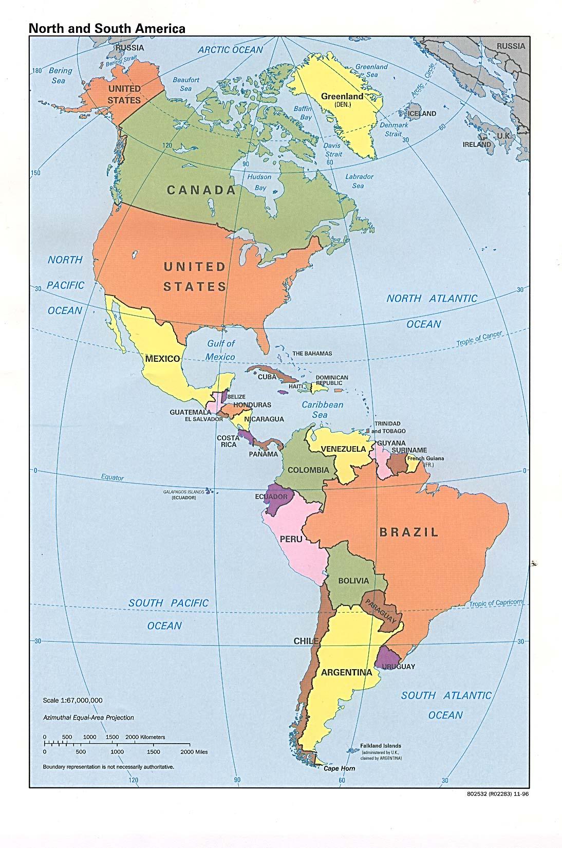 Carte Interactive Amerique Centrale.Carte De L Amerique Latine