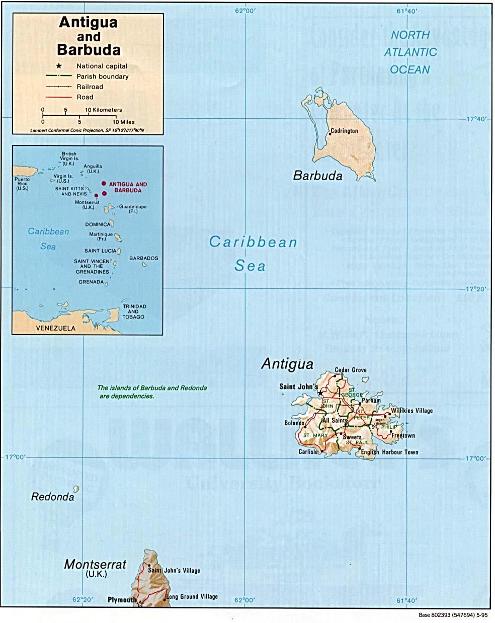 Redonda Island Map