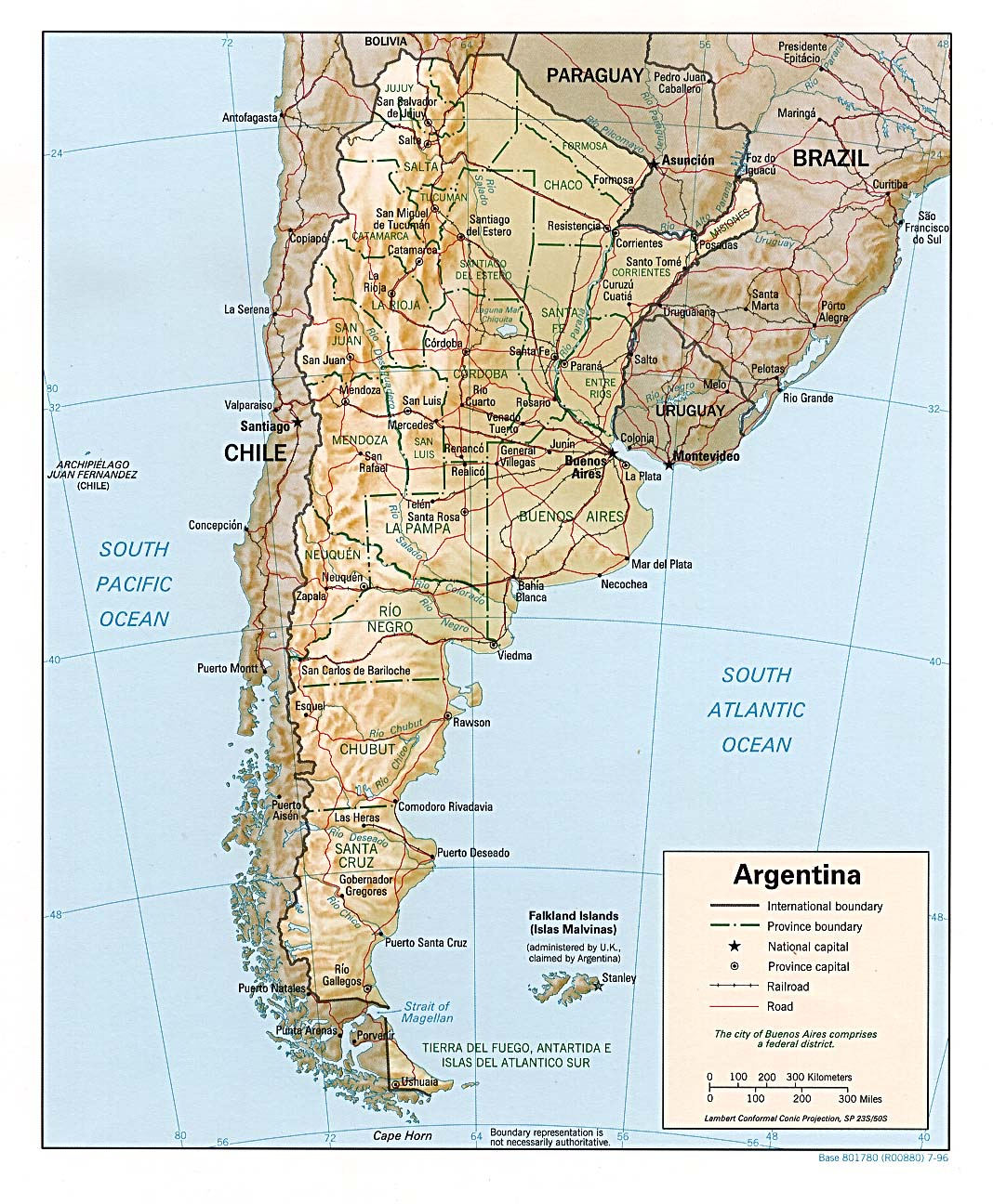 Site Map: Geography Of Argentina