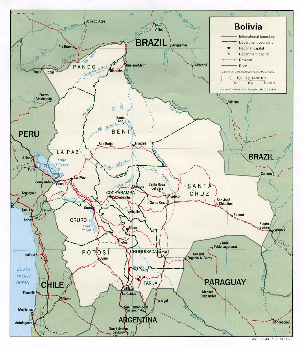 Bolivia Maps - Perry-Castañeda Map Collection - UT Library Online