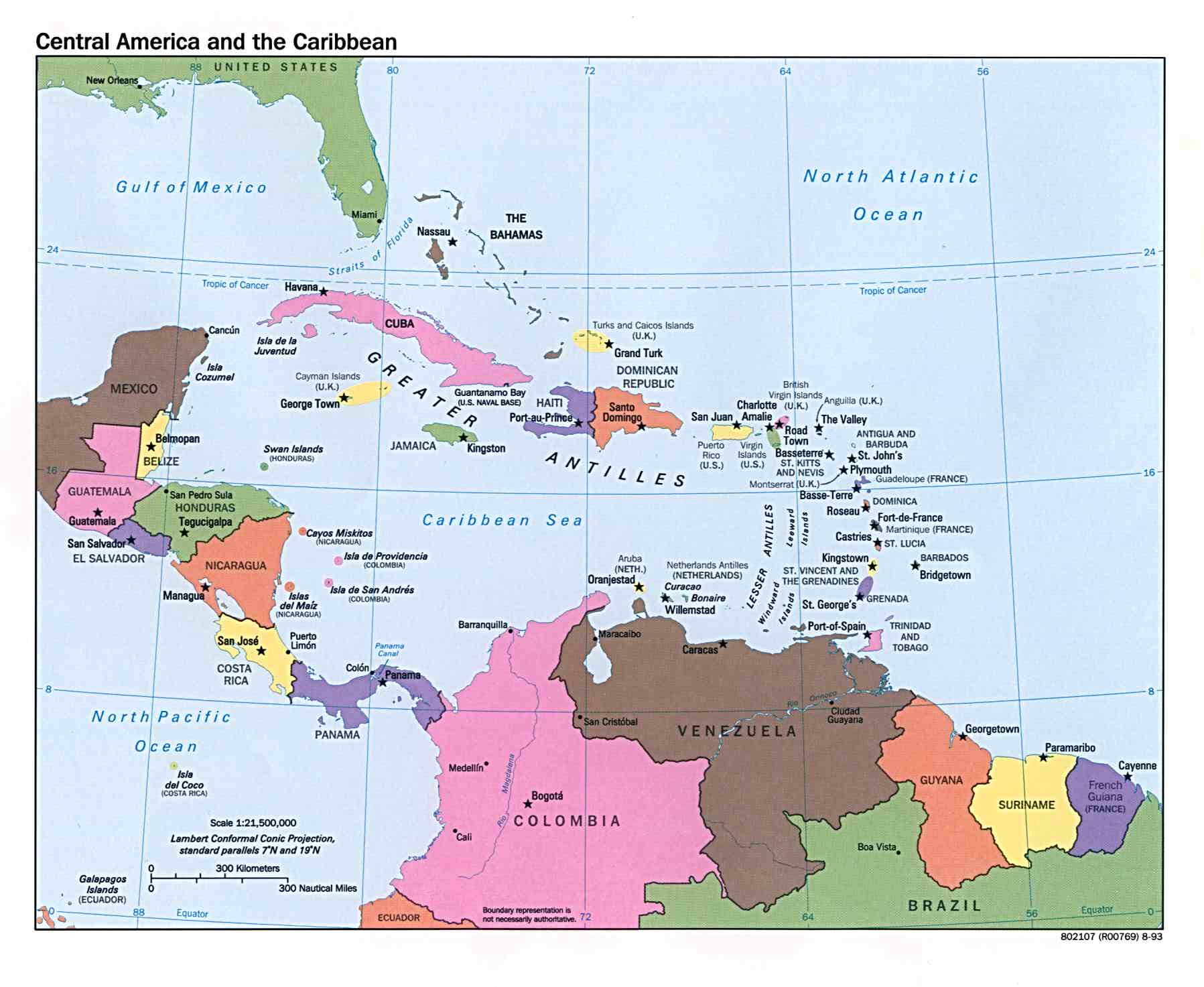 It's just a graphic of Dynamic Printable Map of the Caribbean