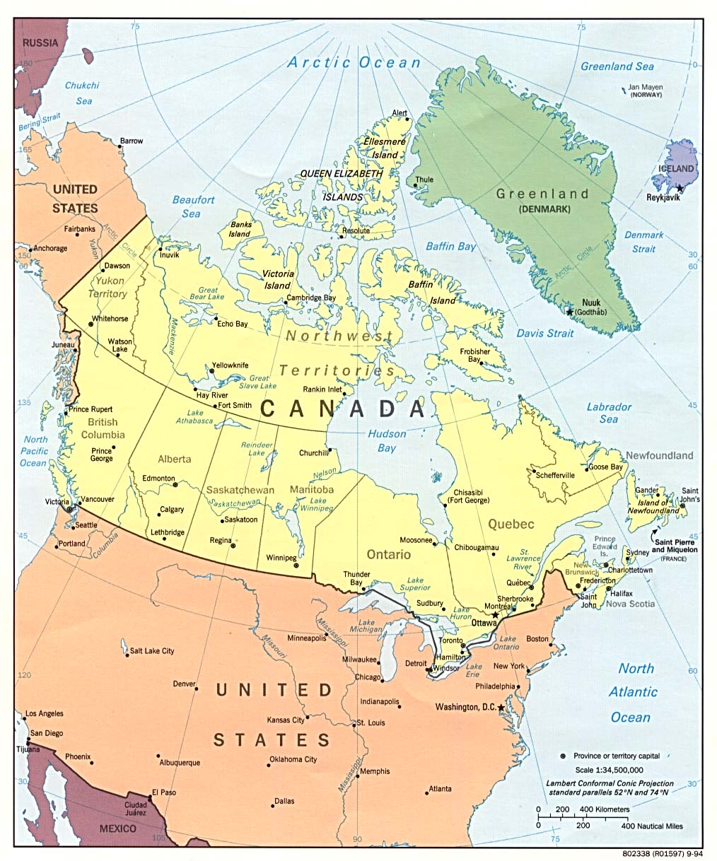 Map Of Canada With Cities And Provinces.Canada Maps Perry Castaneda Map Collection Ut Library Online
