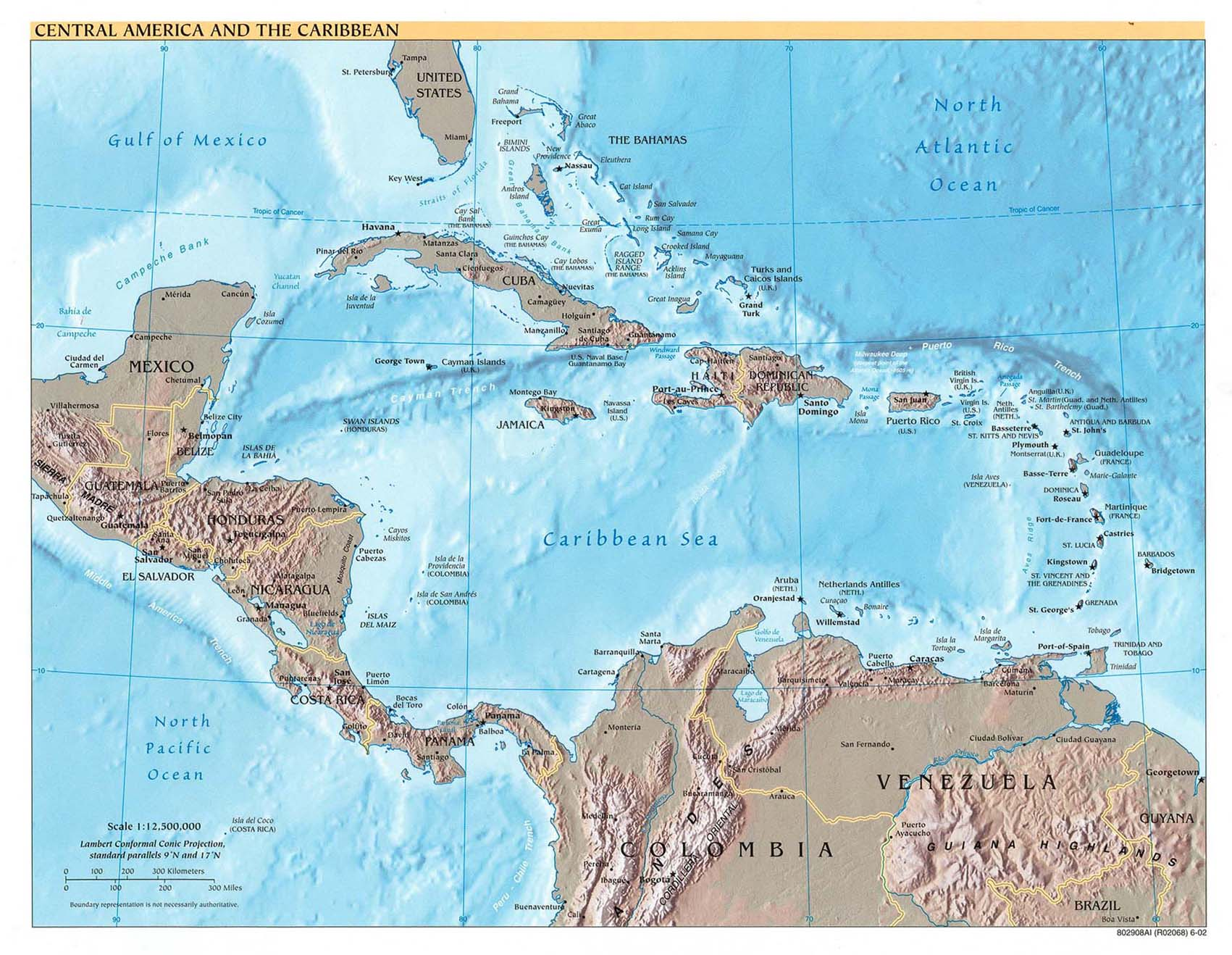 Americas Maps PerryCastañeda Map Collection UT Library Online - Aruba physical map