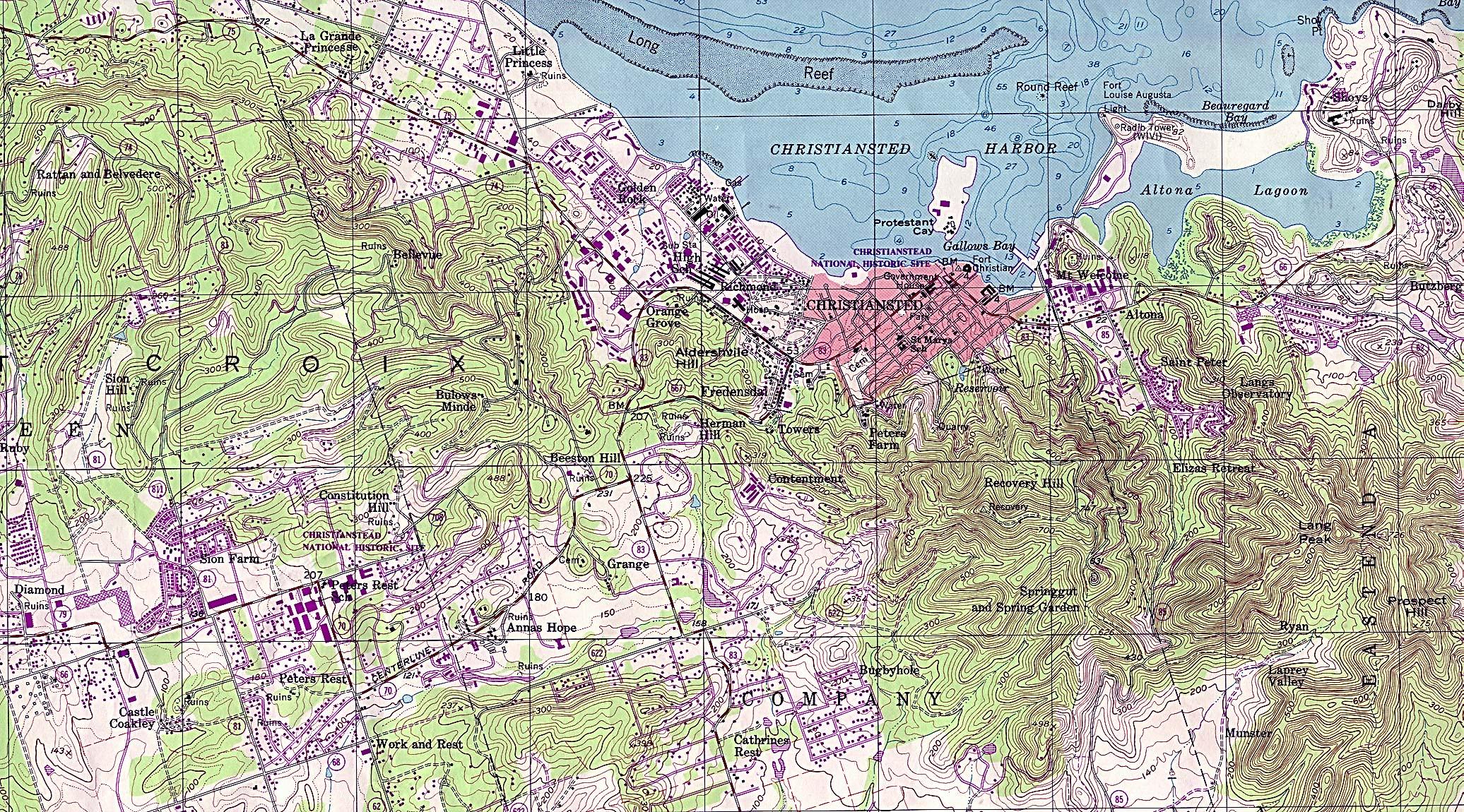 US Virgin Islands Maps  PerryCastaeda Map Collection  UT