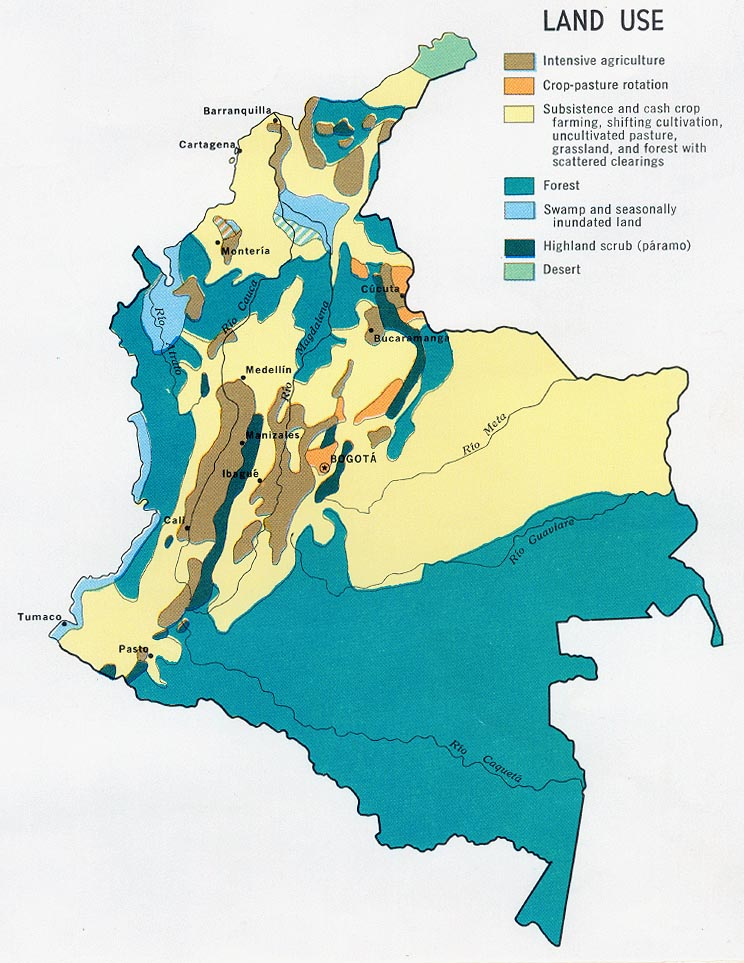 colombia land use