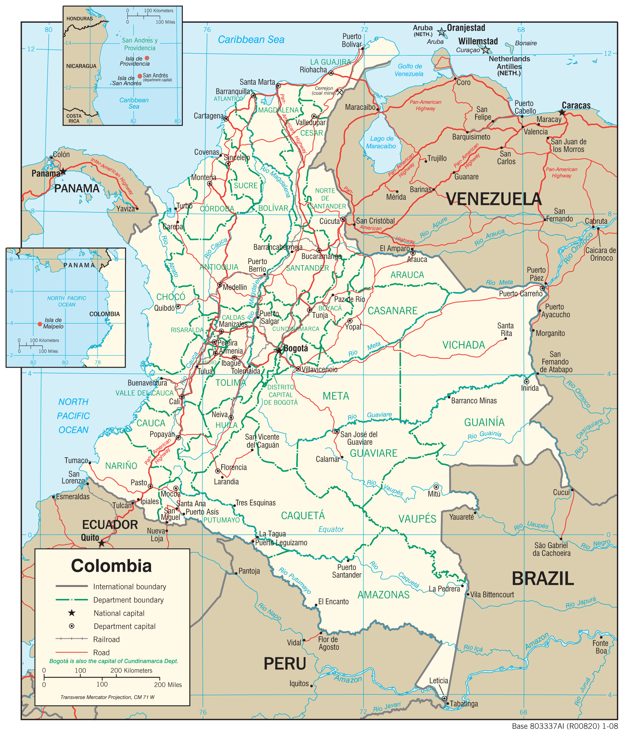 Map Of Colombia Colombia Maps   Perry Castañeda Map Collection   UT Library Online Map Of Colombia