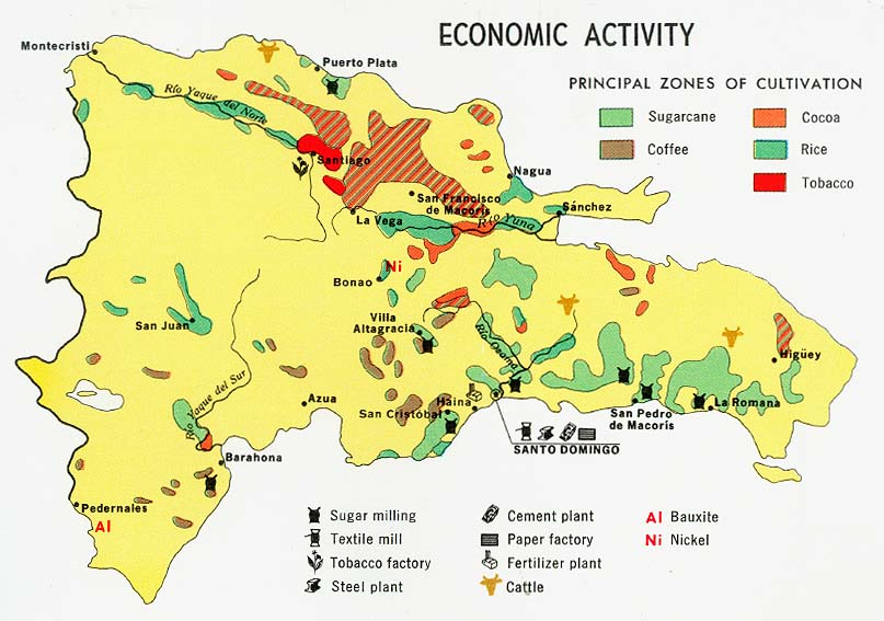 Dominican republic maps perry castaeda map collection ut dominican republic economic activity from map gumiabroncs Gallery