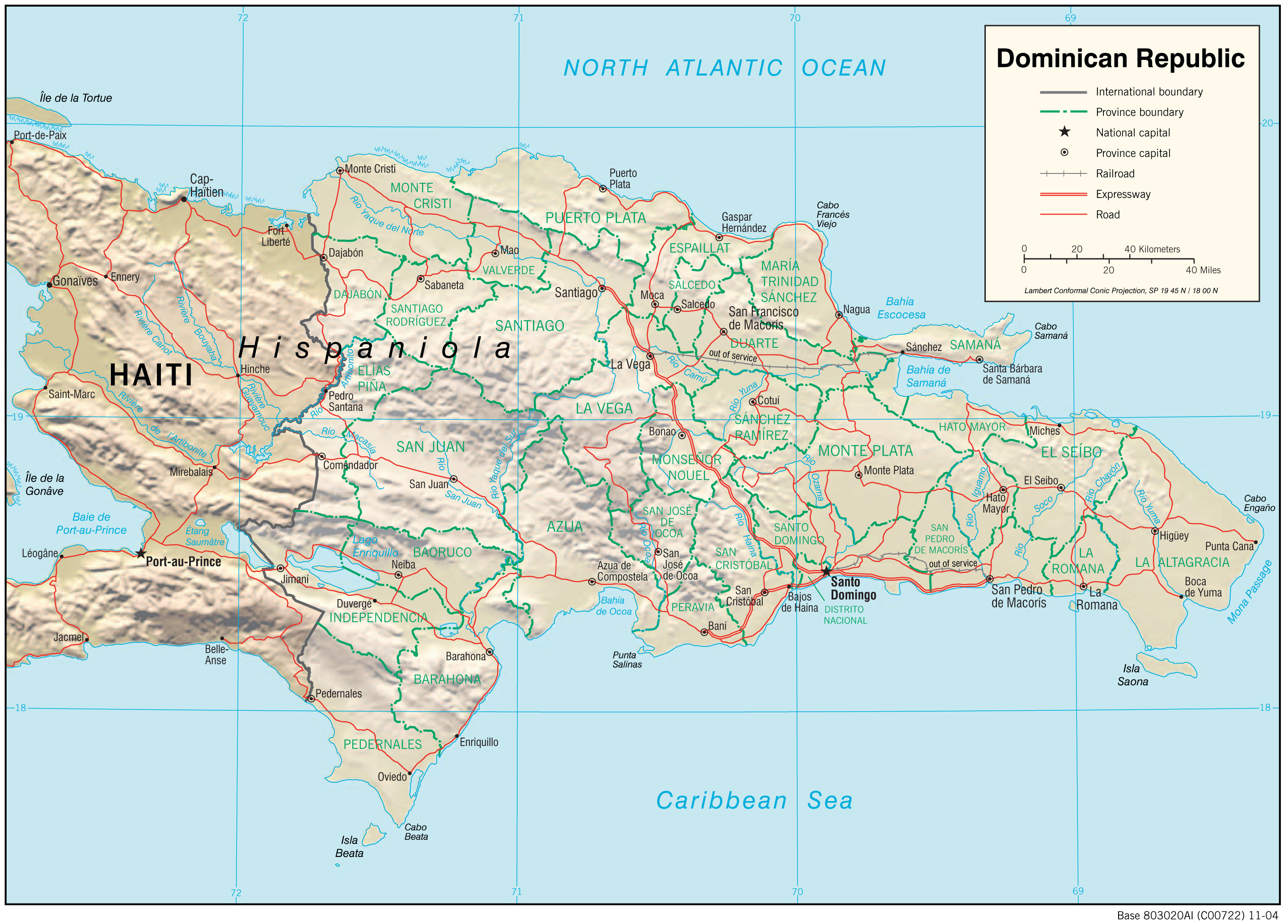 Dominican Republic Maps - Perry-Castañeda Map Collection - UT ... on