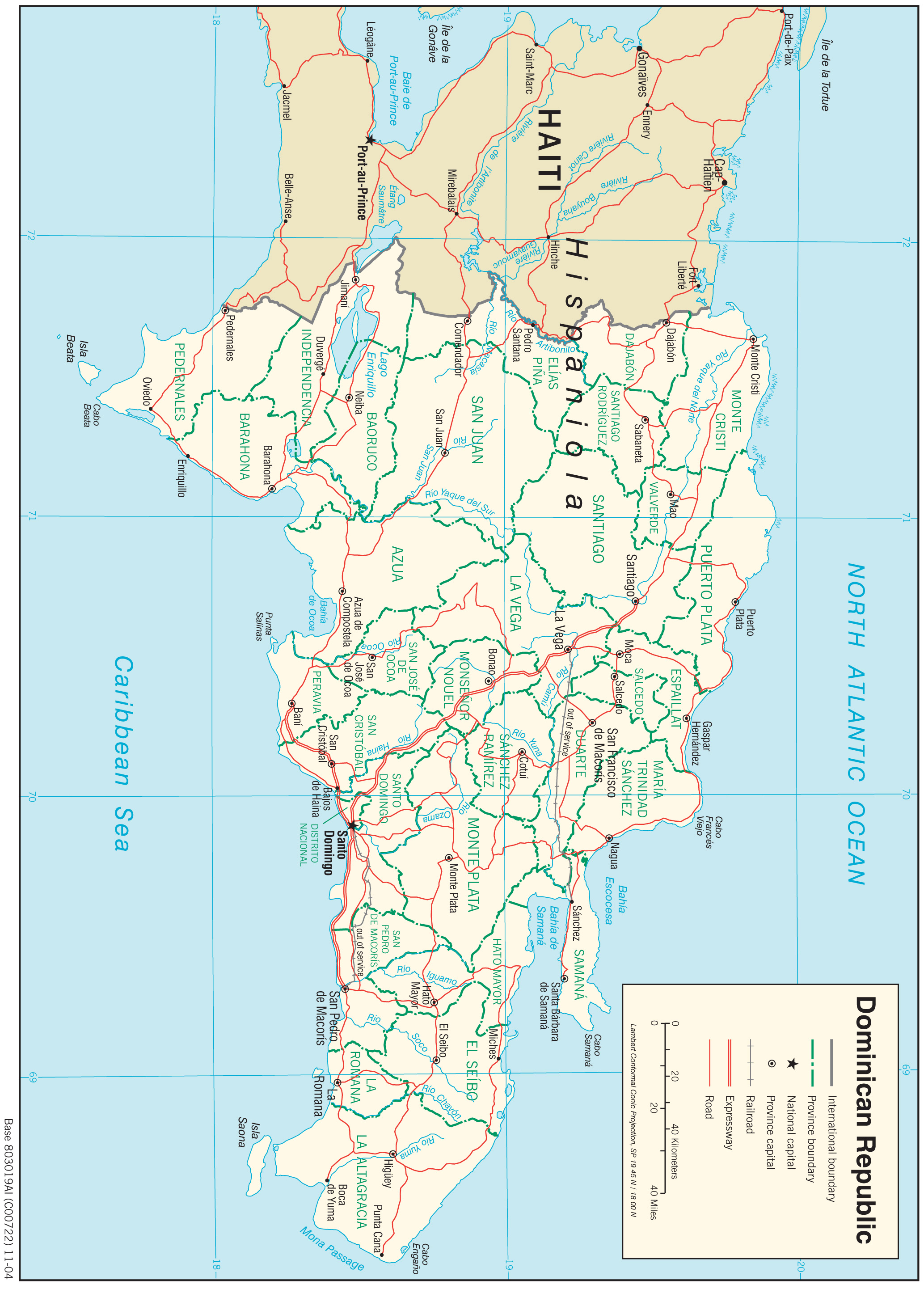 Dominican Republic Maps - Perry-Castañeda Map Collection ...