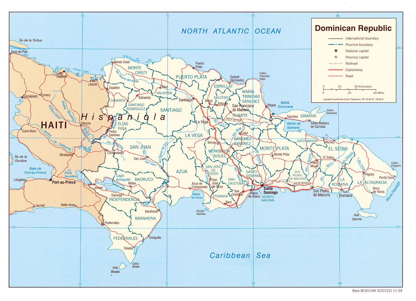 Dominican Republic Maps PerryCastaeda Map Collection UT