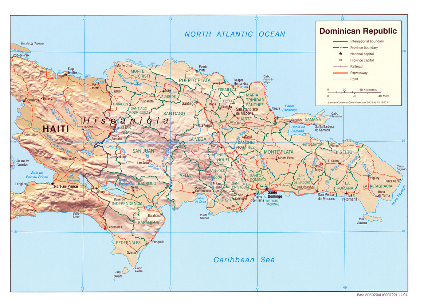Dominican Republic Maps Perry Castaneda Map Collection Ut