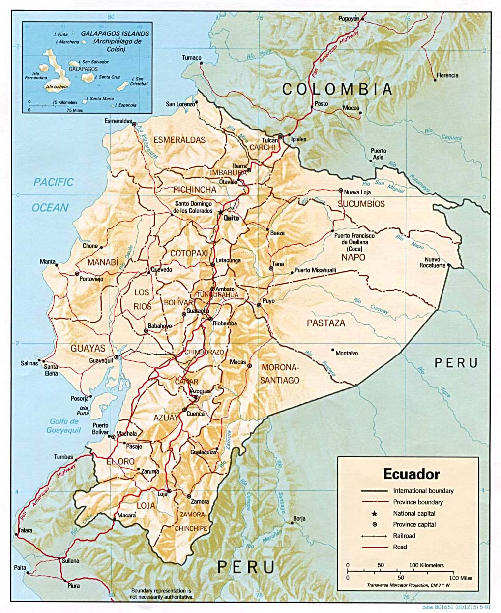 Map of Ecuador Geography