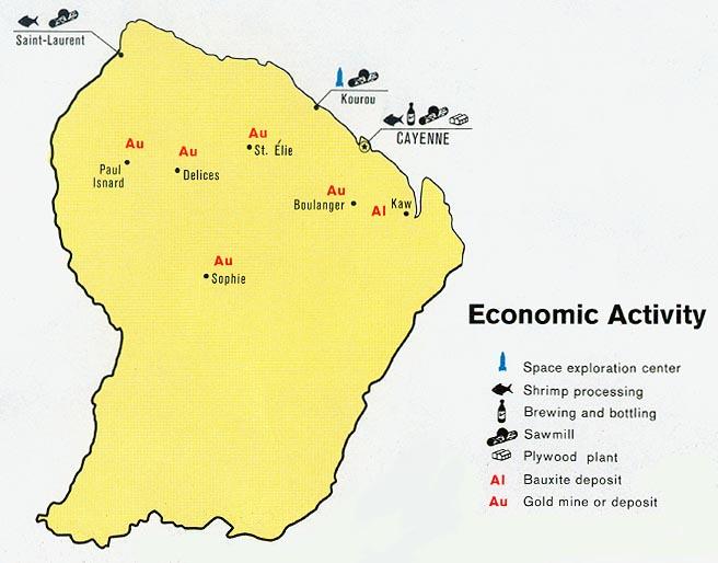 French Guiana Major Natural Resources
