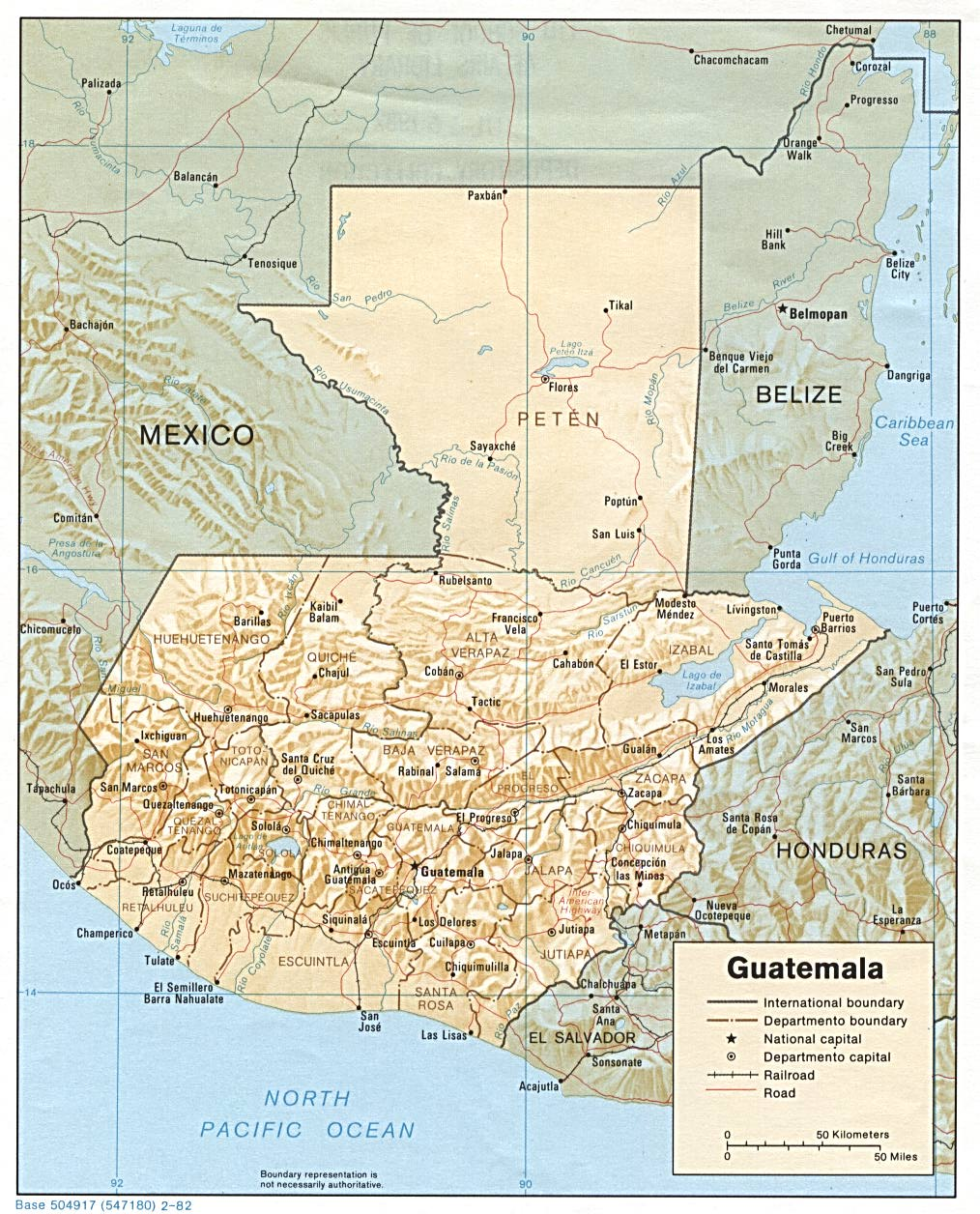 guatemala maps perry castañeda map collection ut library online