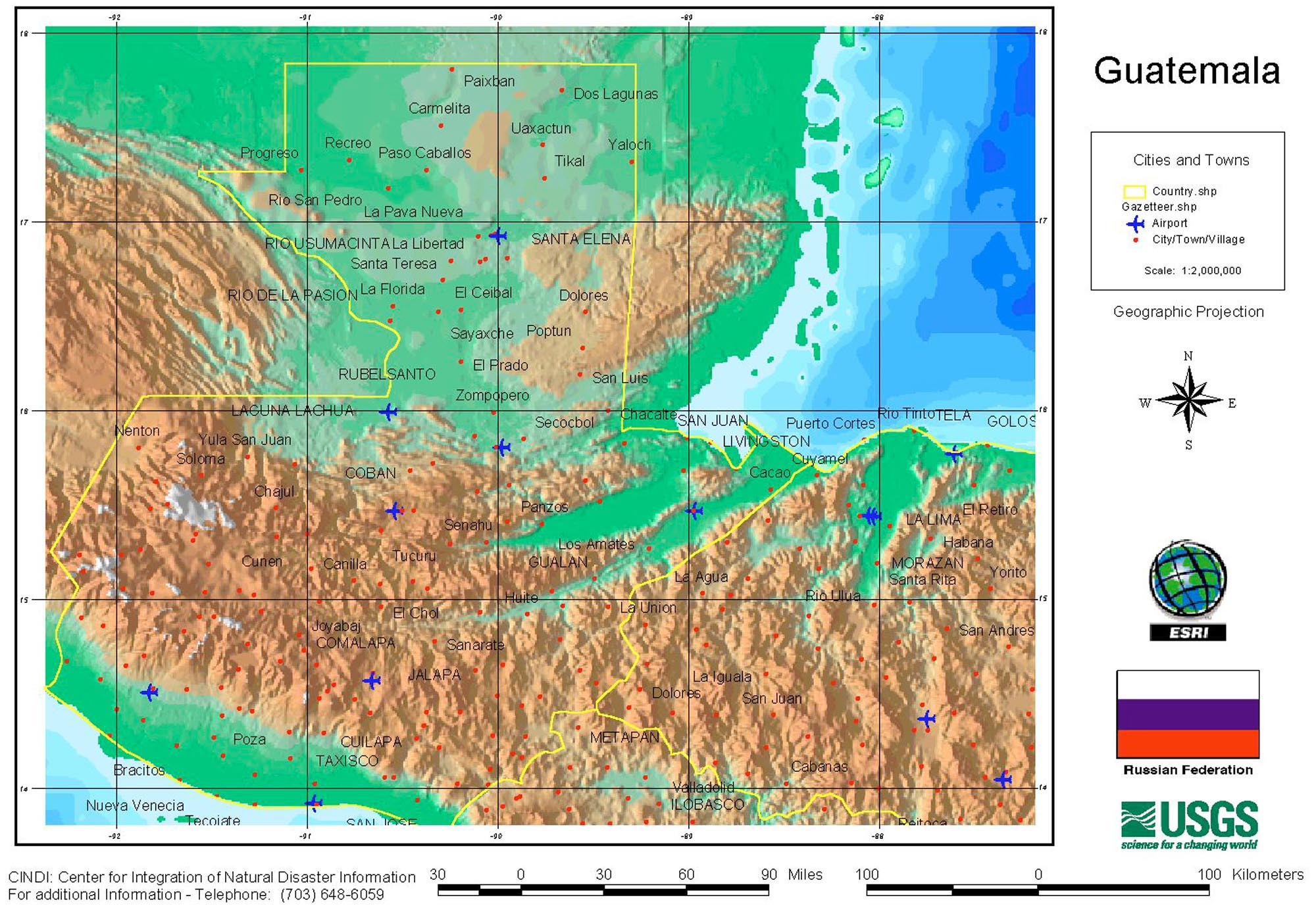 Guatemala maps perry castaeda map collection ut library online guatemala maps gumiabroncs Gallery