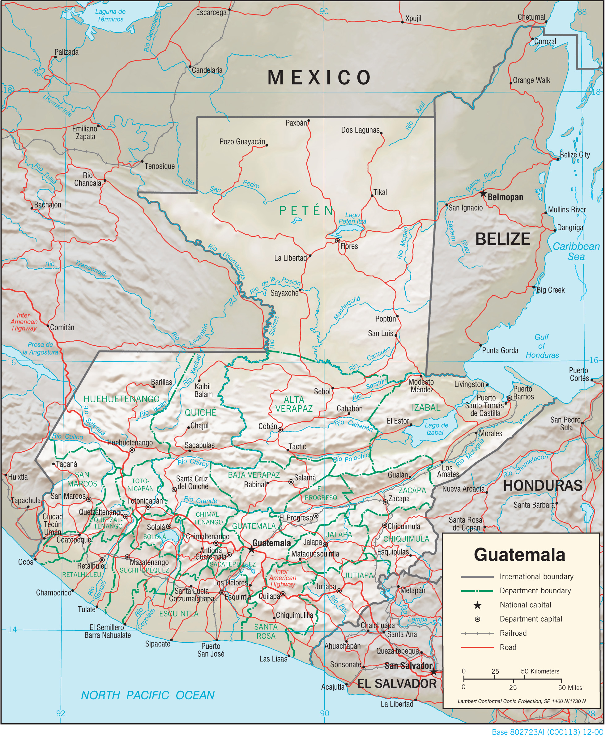 Guatemala Maps PerryCastañeda Map Collection UT Library Online - Political map of guatemala