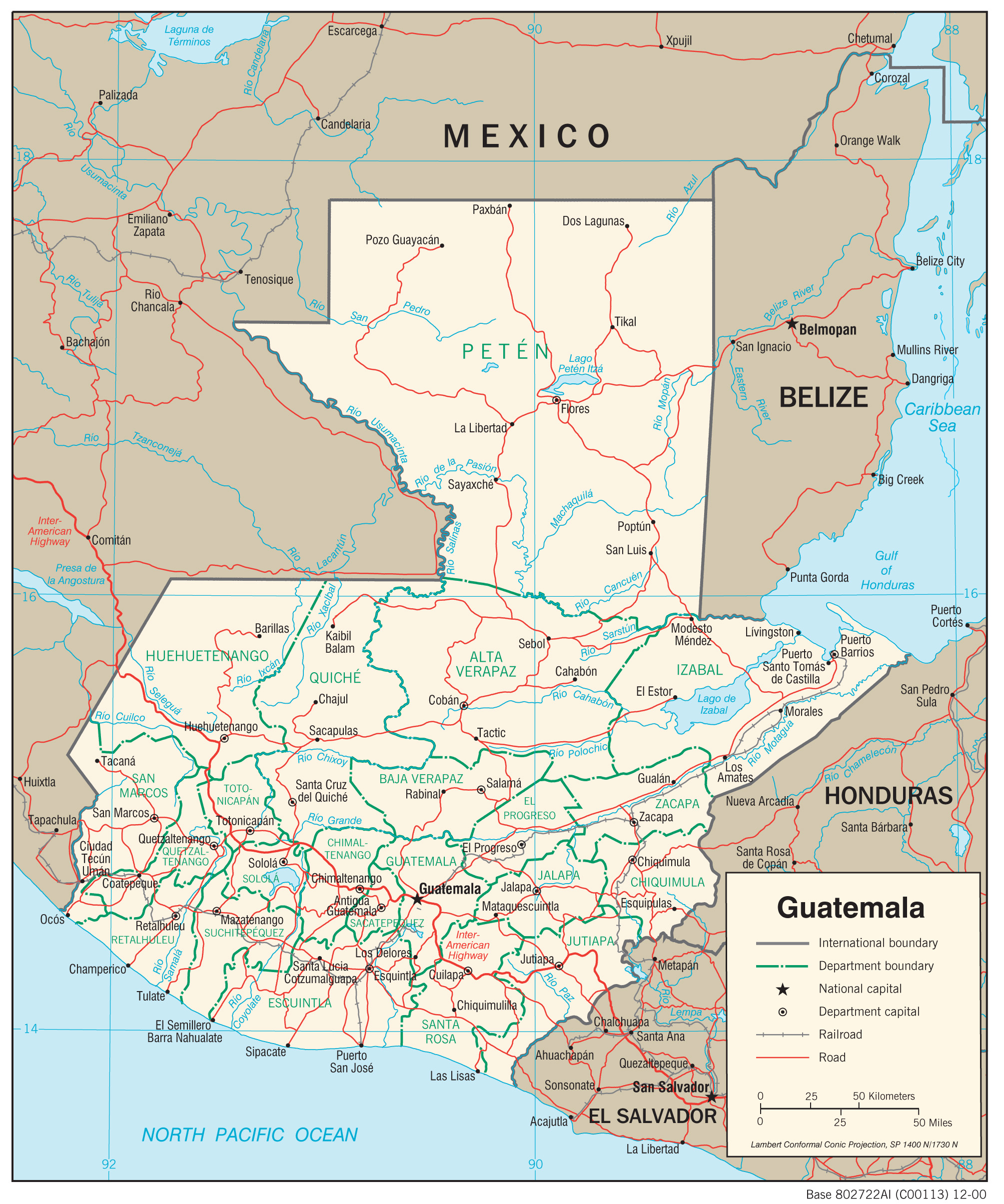 Map Of Guatemala Guatemala Maps   Perry Castañeda Map Collection   UT Library Online Map Of Guatemala
