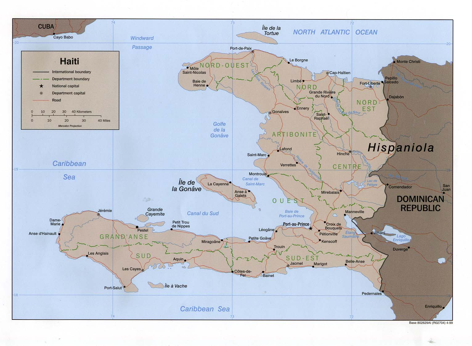 Haiti Maps PerryCastañeda Map Collection UT Library Online - Haiti political map 1999