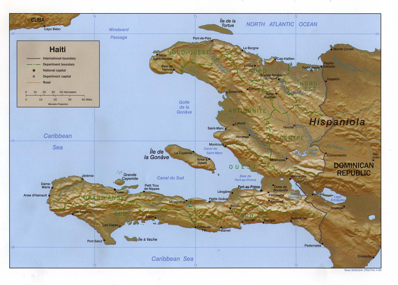 Haiti maps perry castaeda map collection ut library online haiti maps gumiabroncs Gallery