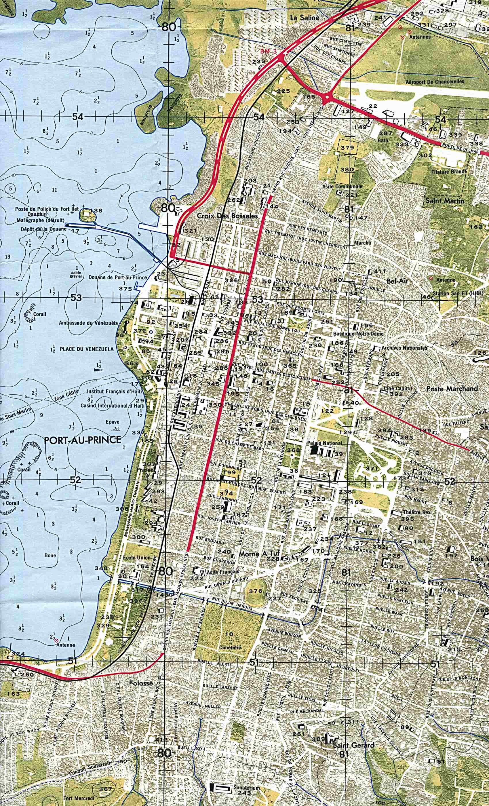 1up Travel Maps Of Haitiport Au Prince Central Orthophoto 1 - Map-of-haiti-and-us