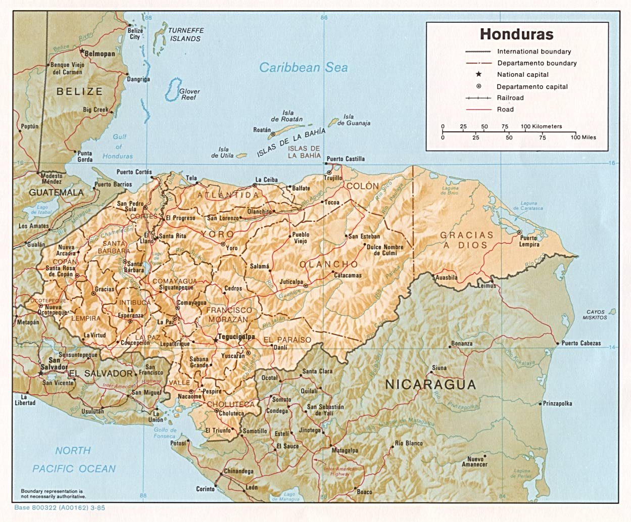 Honduras Maps PerryCastañeda Map Collection UT Library Online - Hondurus map