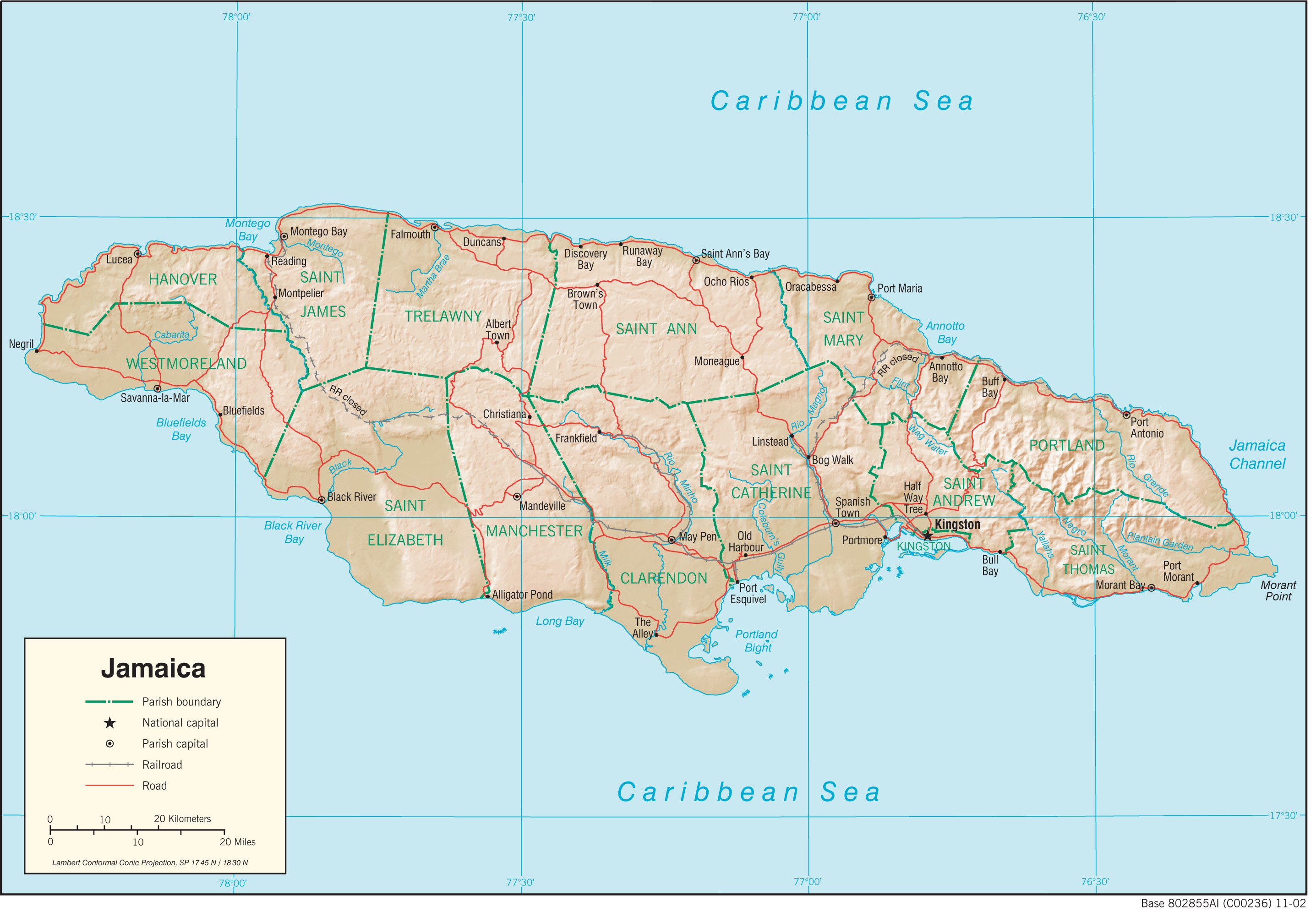 Jamaica maps perry castaeda map collection ut library online jamaica maps gumiabroncs Gallery