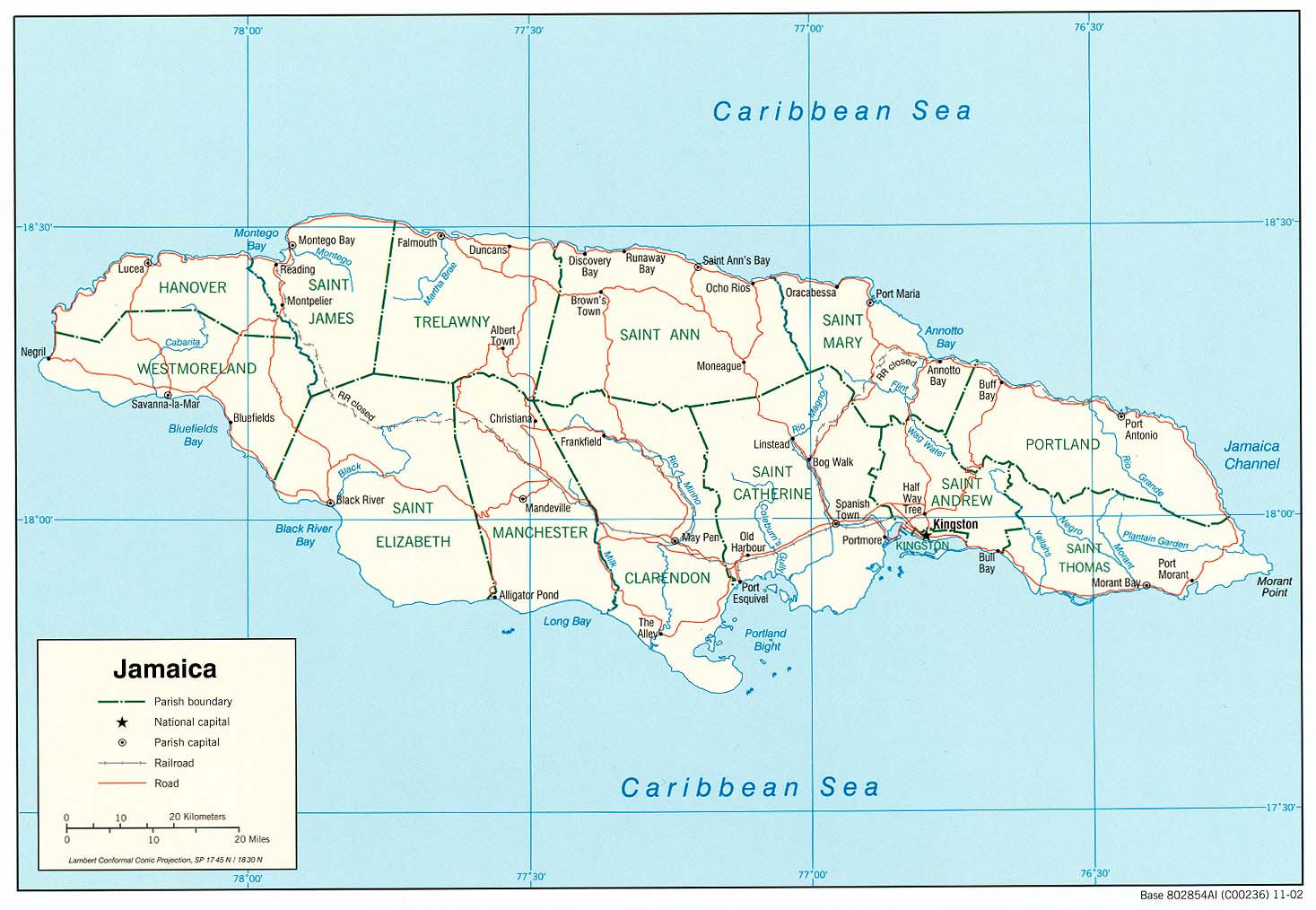 Jamaica Maps - Perry-Castañeda Map Collection - UT Library Online