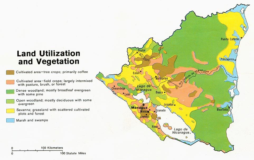 Nicaragua Maps PerryCastañeda Map Collection UT Library Online - Nicaragua map