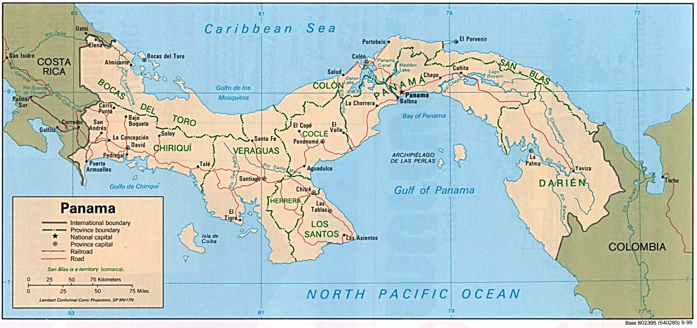 Panama Maps PerryCastañeda Map Collection UT Library Online - Political map of panama caribbean sea