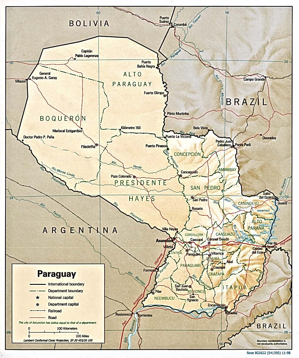 Paraguay Maps - Perry-Castañeda Map Collection - UT Library Online