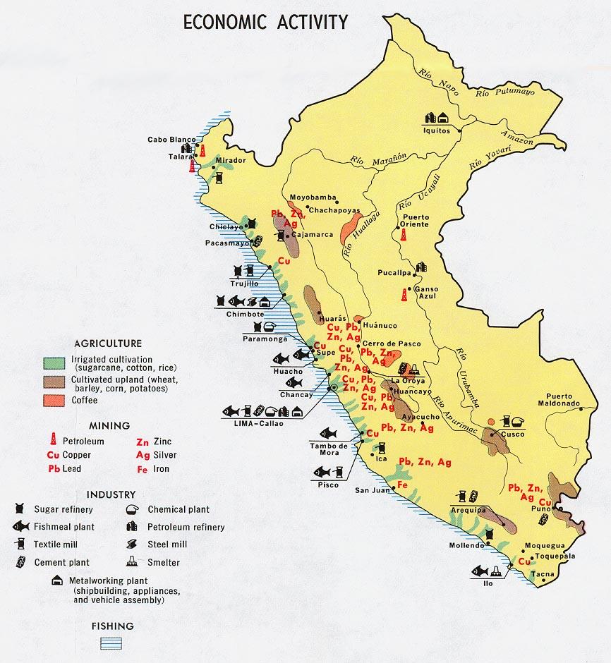 Peru Maps PerryCastañeda Map Collection UT Library Online - Peru population map 1970