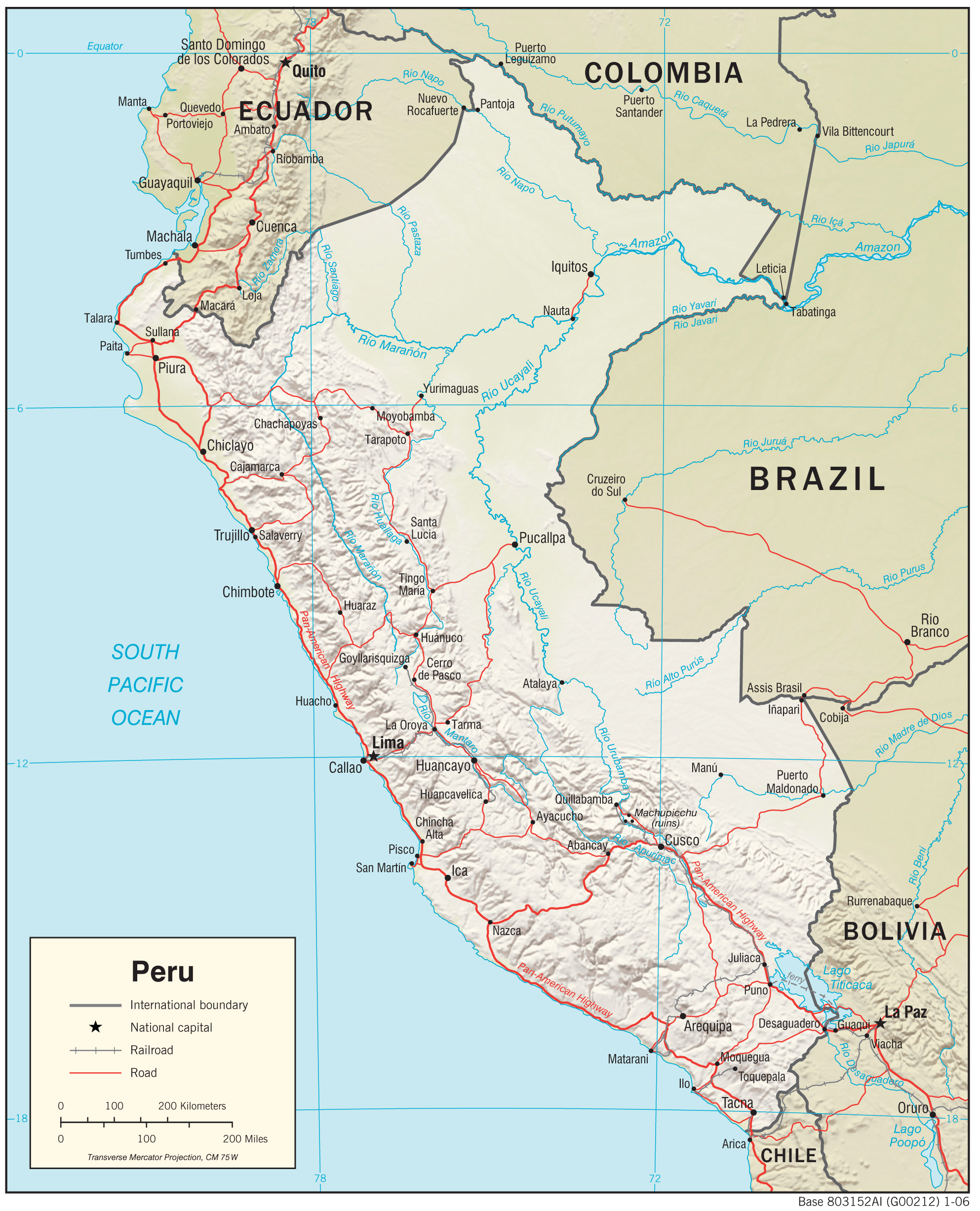 Peru Maps PerryCastañeda Map Collection UT Library Online - Perus map