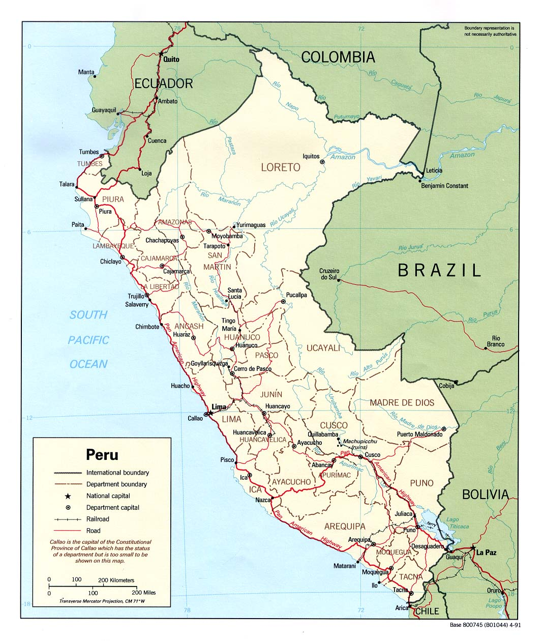 Peru Maps Perry Castaneda Map Collection Ut Library Online
