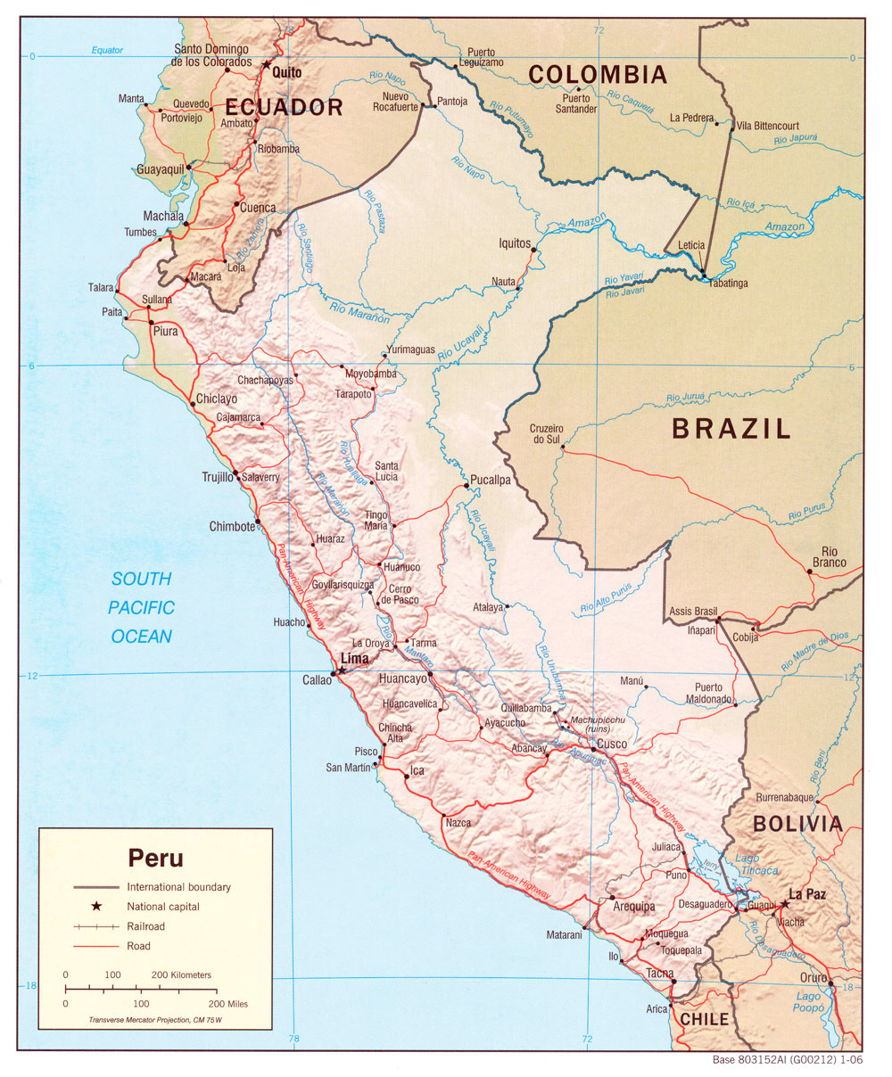 Peru Maps - Perry-Castañeda Map Collection - UT Library Online