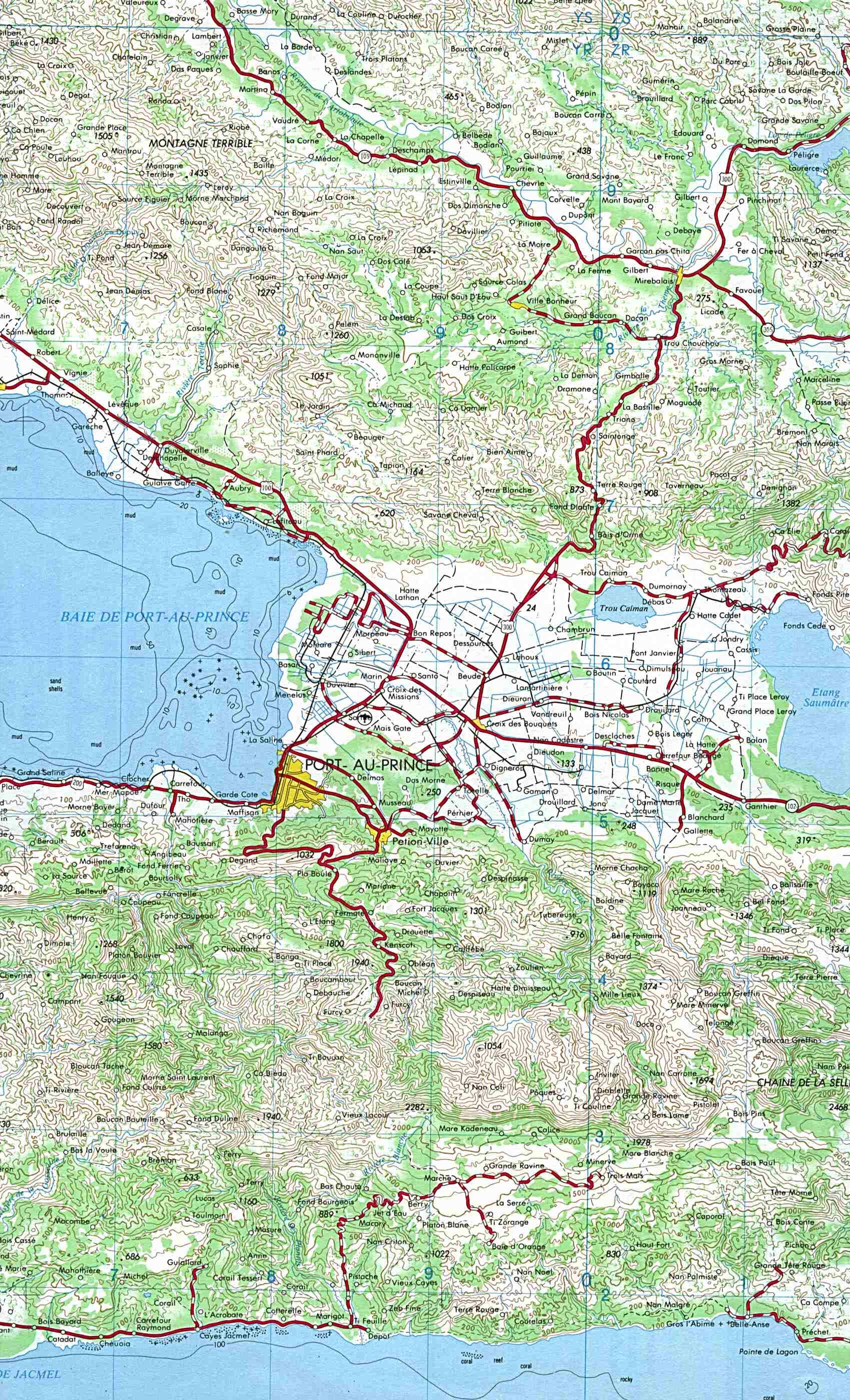 Haiti PortauPrince Topographic Map Haiti ReliefWeb - Map haiti