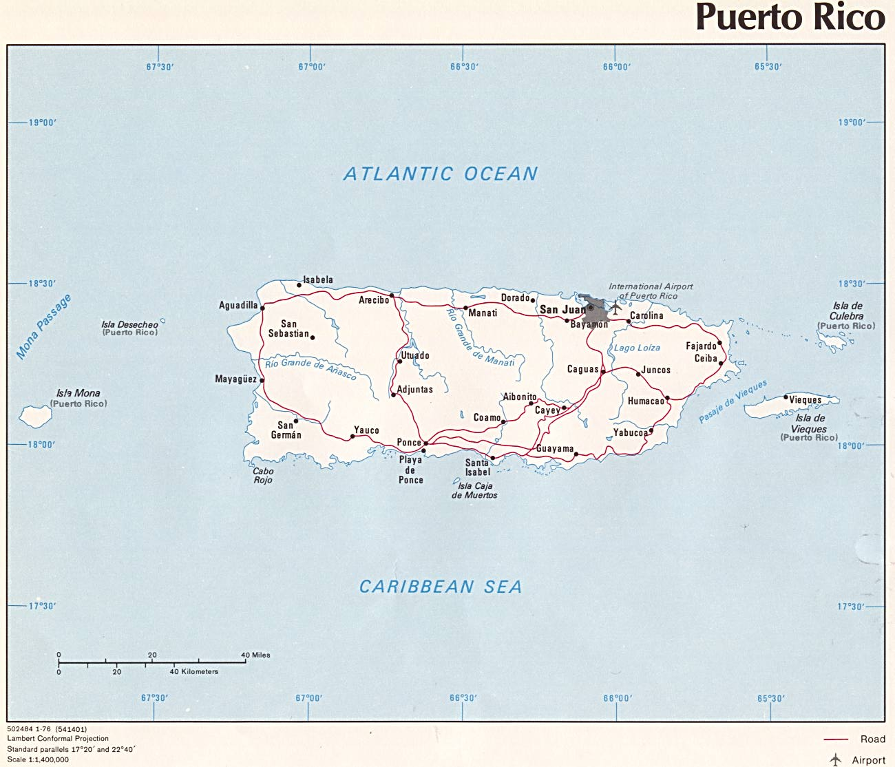 Puerto Rico Maps - Perry-Castañeda Map Collection - UT ...