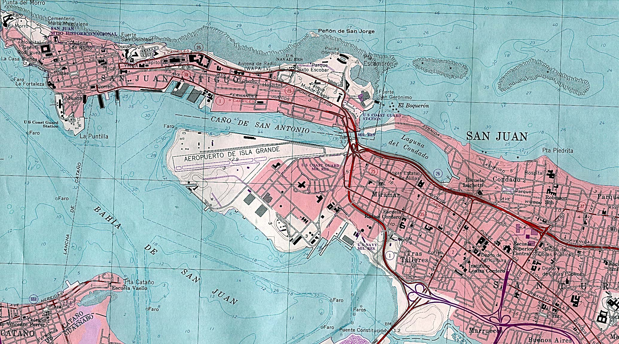 Puerto Rico Maps PerryCasta eda Map Collection UT Library Online – Puerto Rico Travel Map