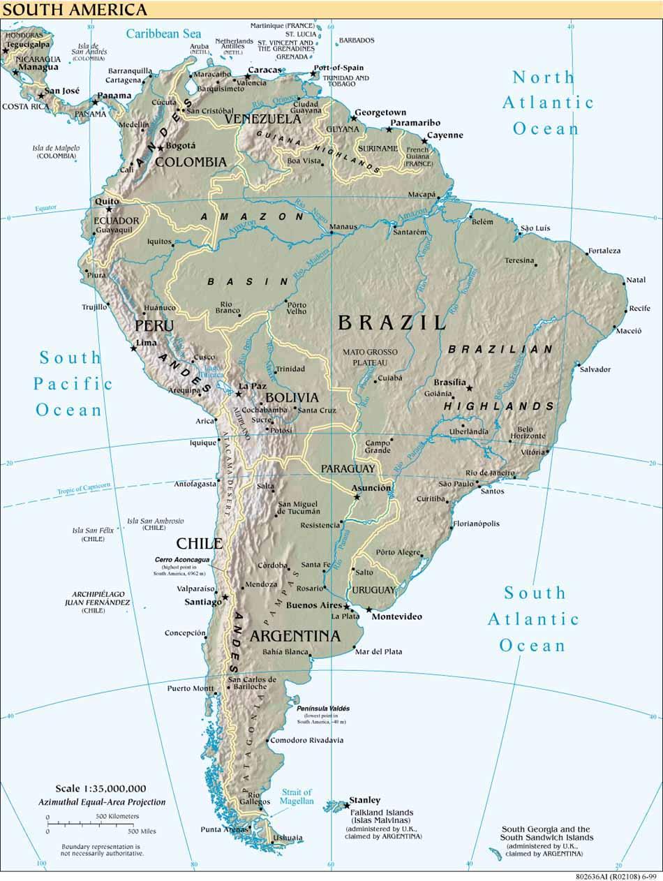 Latin America South America Map.Maps Of Latin America Lanic