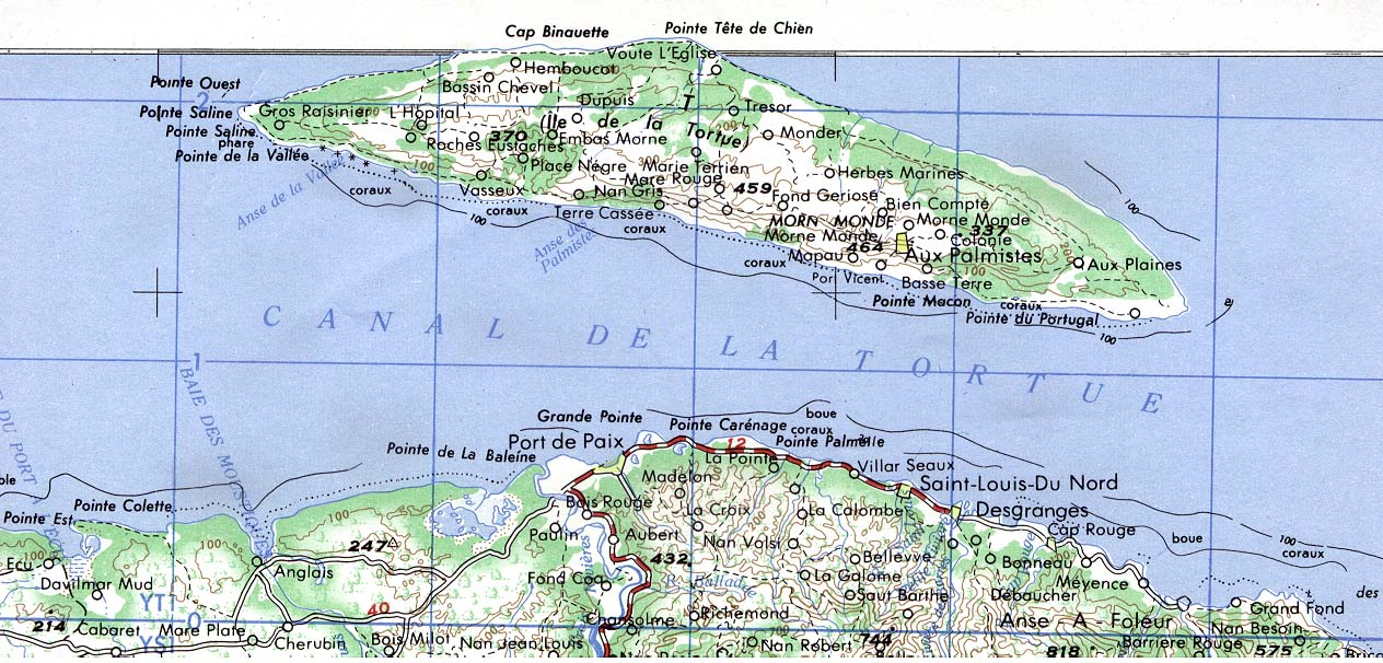 Topographic Map Of Haiti.Haiti Maps Perry Castaneda Map Collection Ut Library Online