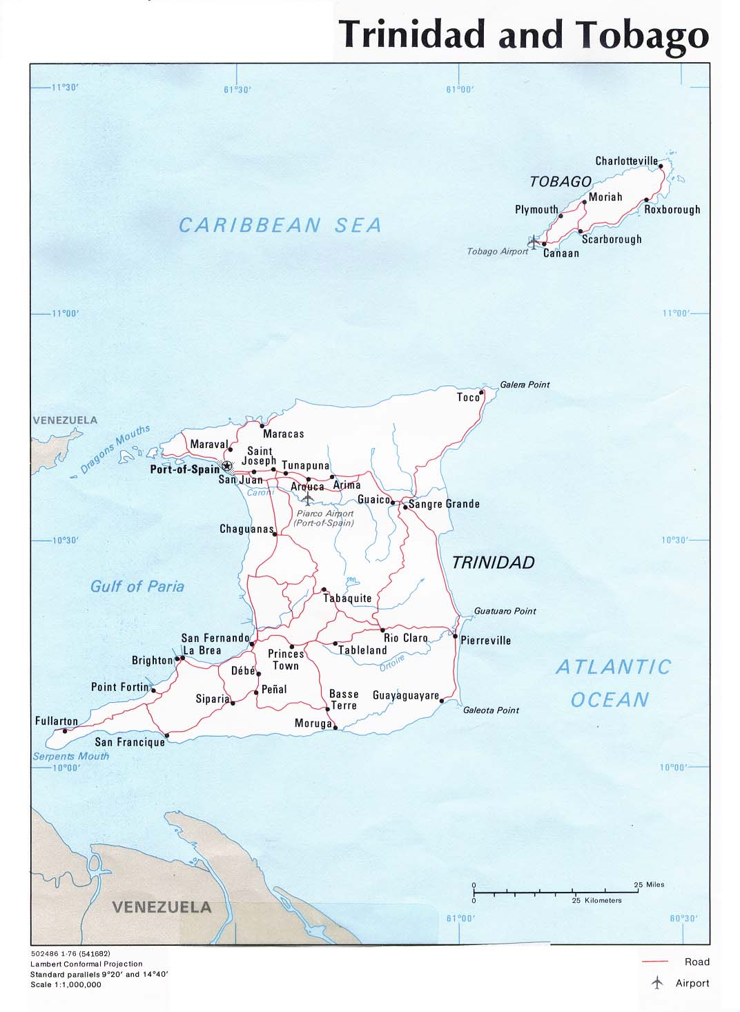 Picture of: Map Of Trinidad