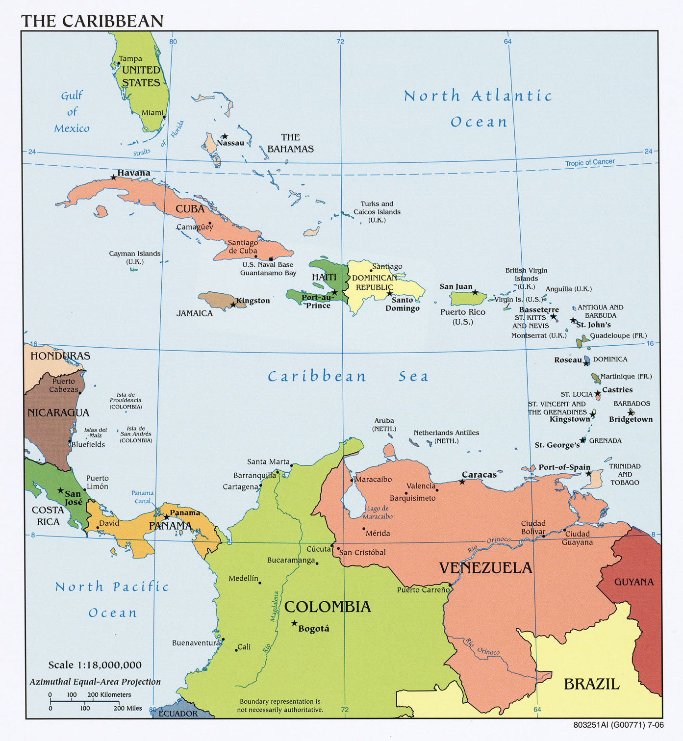 Americas Maps PerryCastañeda Map Collection UT Library Online - Map of the carribean