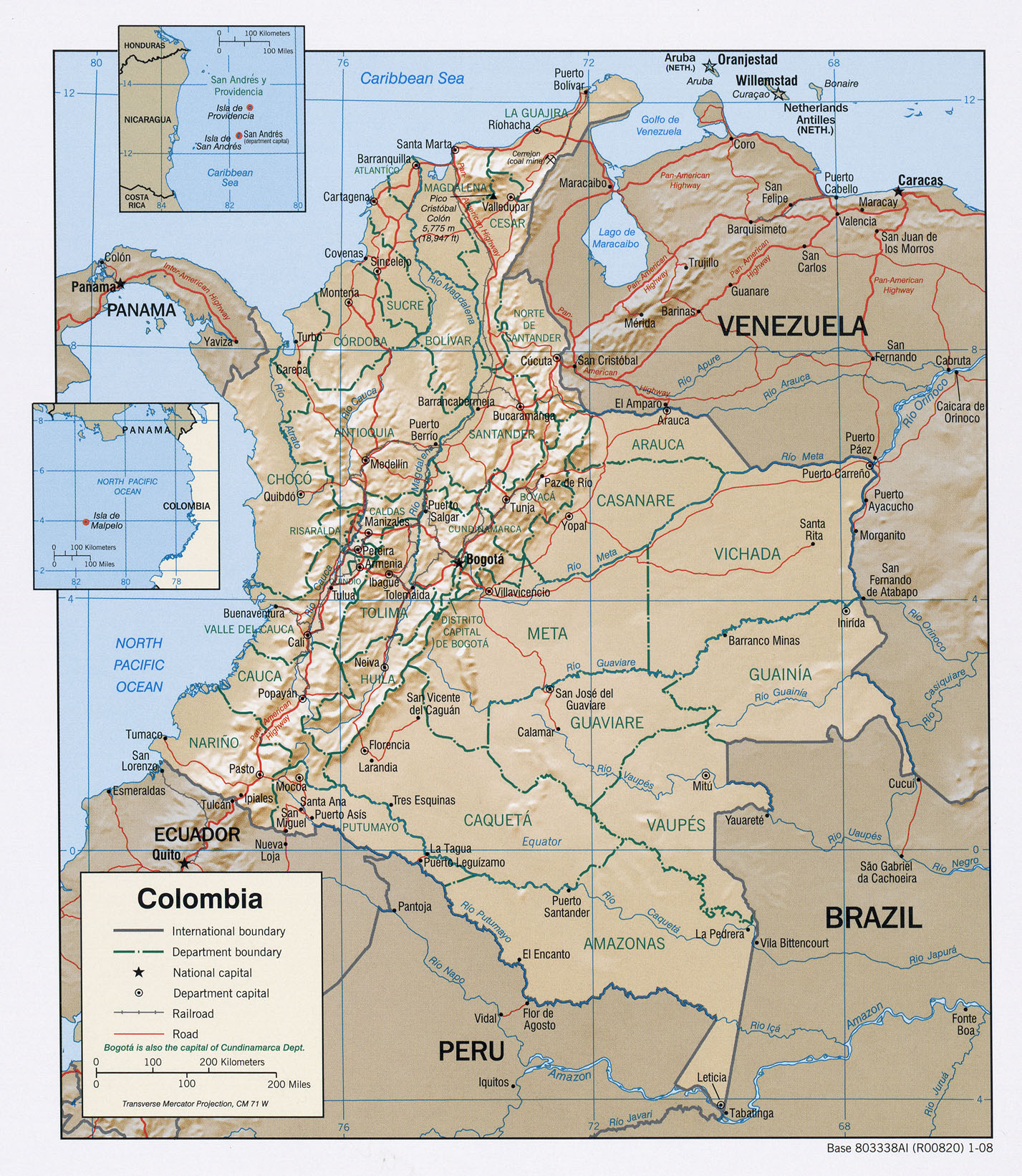Map of colombia colombian map thecheapjerseys Choice Image