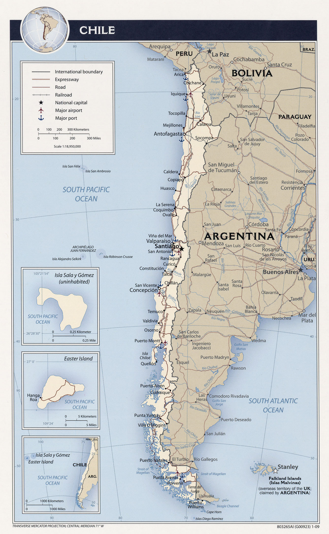 Maps The Cyber Daily - Argentina political map 1996