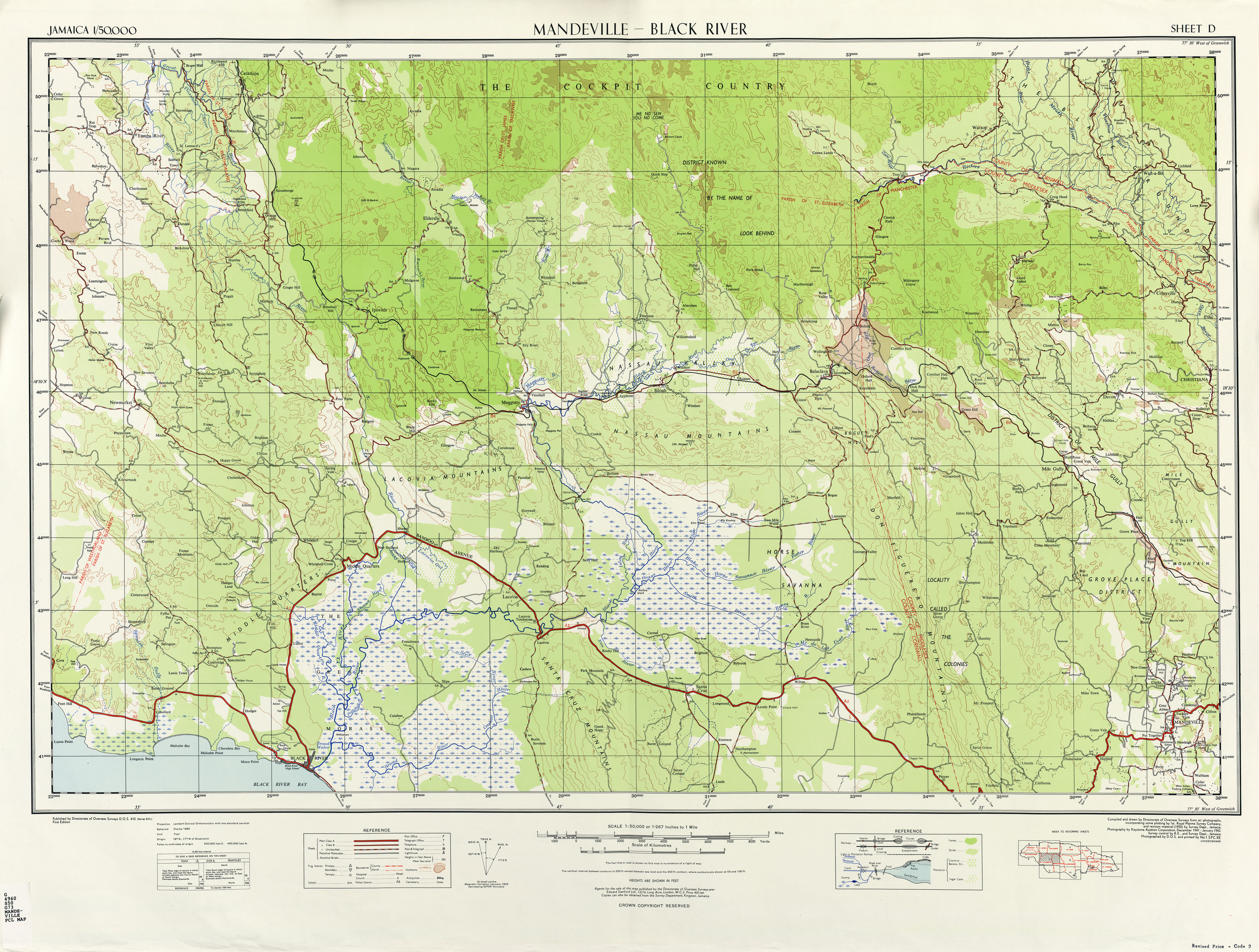 Jamaica Maps - Perry-Castañeda Map Collection - UT Liry Online on