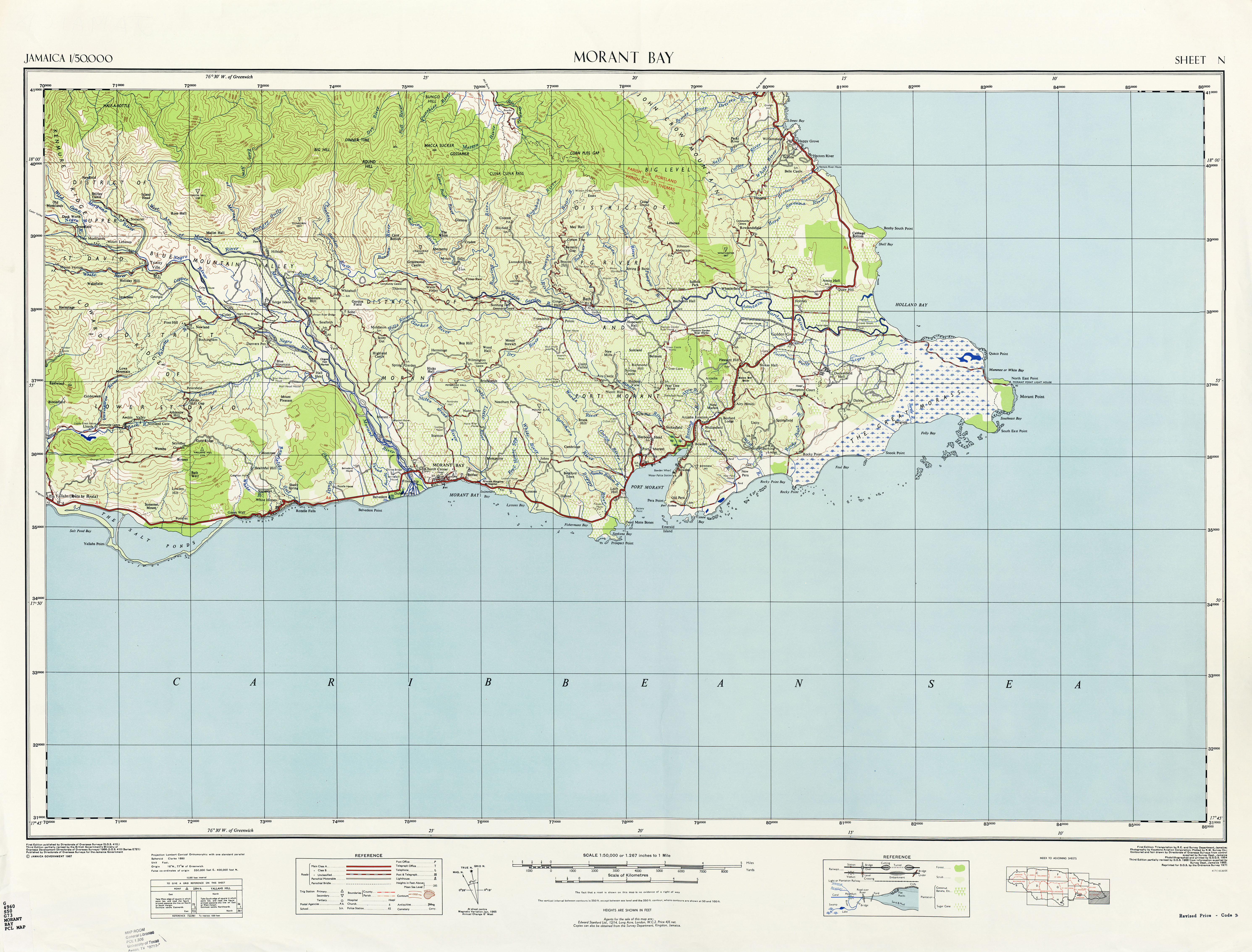 Jamaica maps perry castaeda map collection ut library online jamaica maps gumiabroncs Images