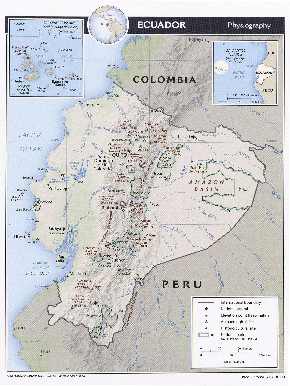 Ecuador Maps PerryCastañeda Map Collection UT Library Online - Map ecuador