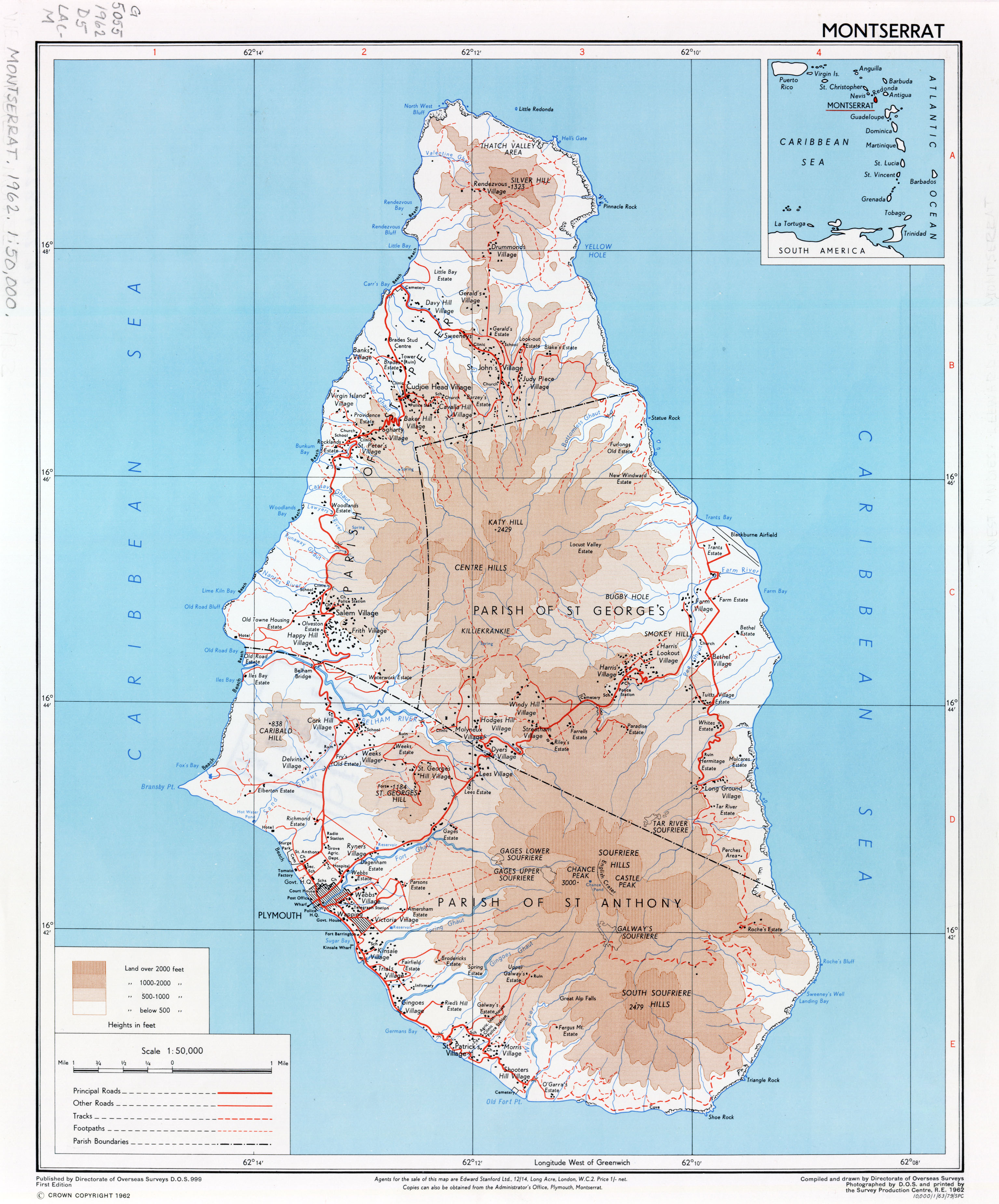 Americas Maps PerryCastañeda Map Collection UT Library Online - Road map of grenada island