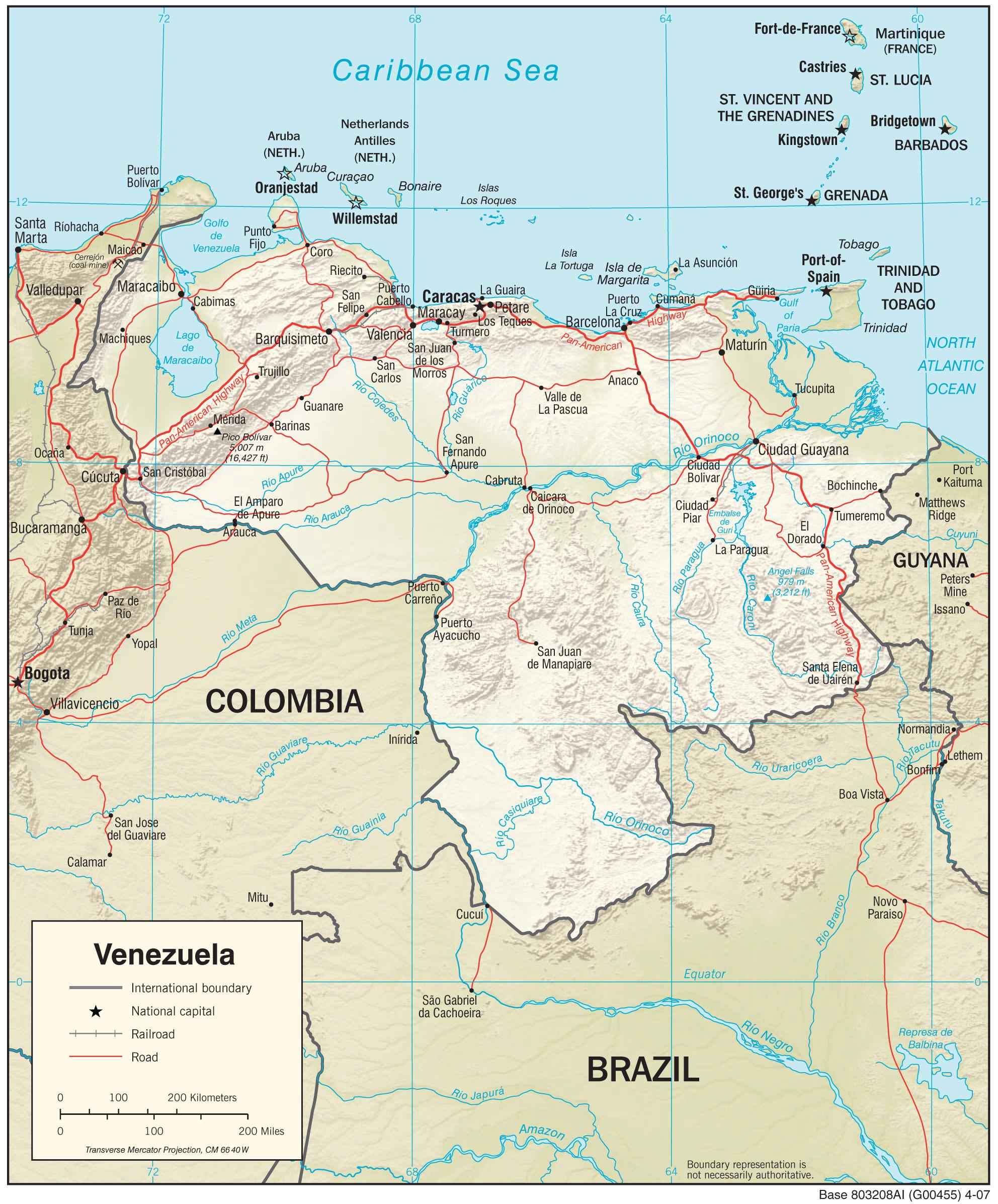 Venezuela Maps PerryCastañeda Map Collection UT Library Online - Venezuela map