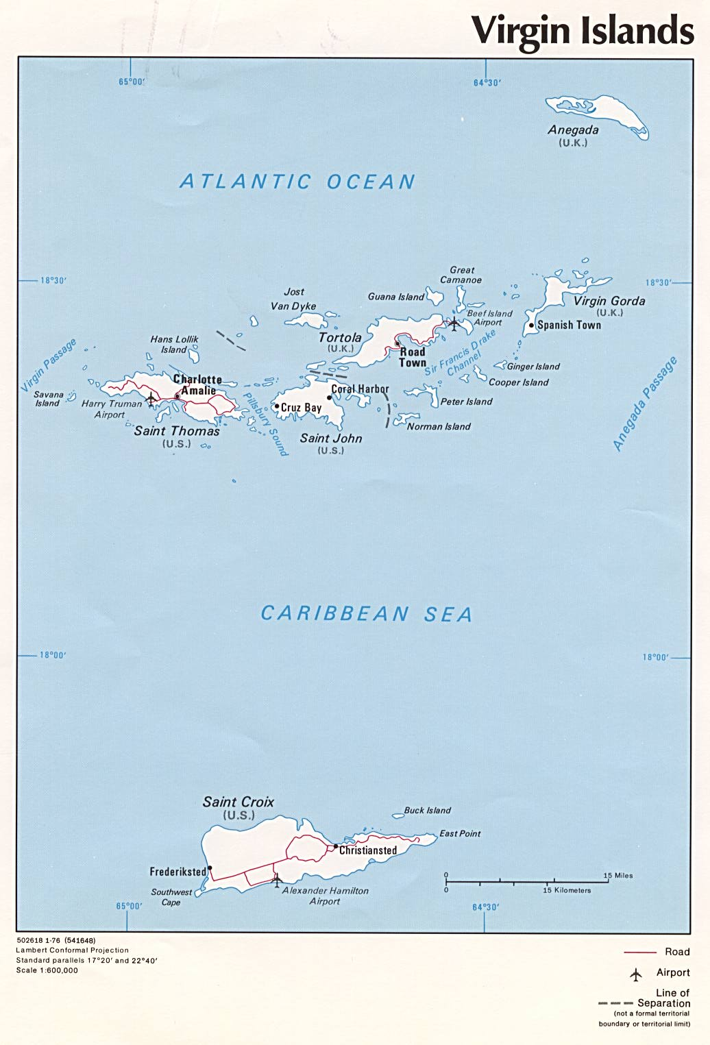 U S Virgin Islands Maps Perry Castaneda Map Collection Ut