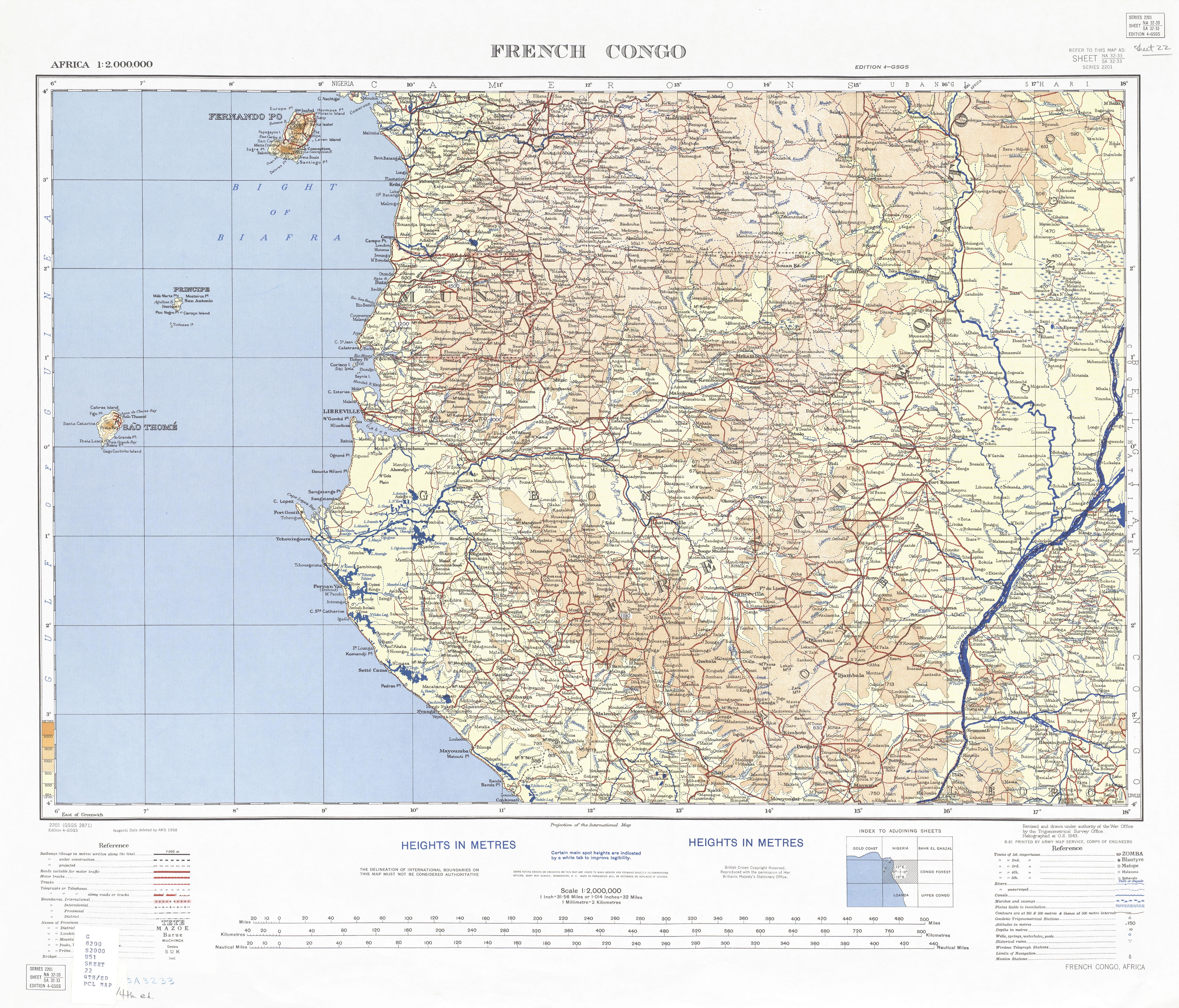 Sao Tome And Principe Maps PerryCastañeda Map Collection UT - Sao tome and principe map